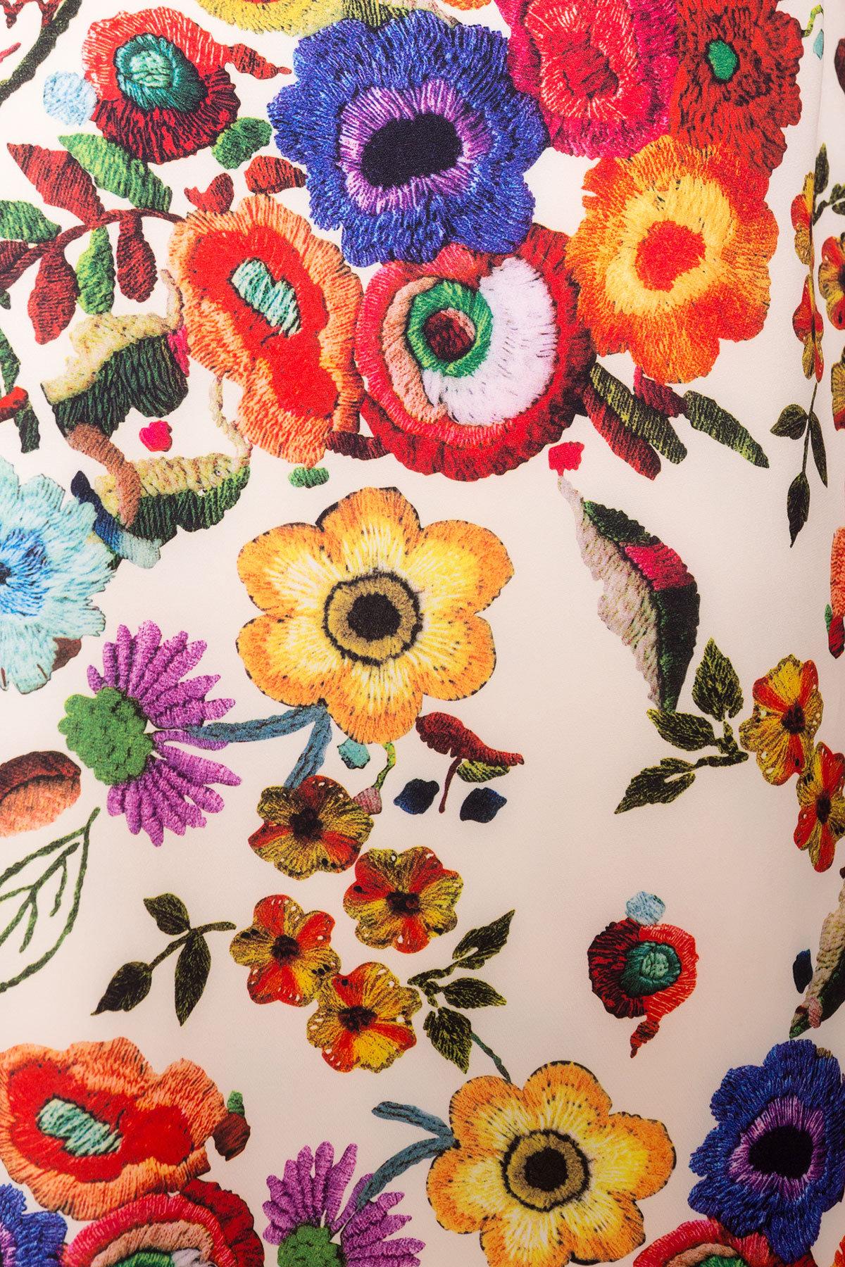 Платье Делафер DONNA 6885 АРТ. 43036 Цвет: Цветы комби молоко - фото 4, интернет магазин tm-modus.ru