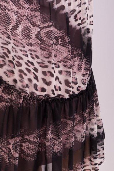 Яркое цветочное Платье Лотти 6492 Цвет: Леоп абстр. мол/пудр/пудр
