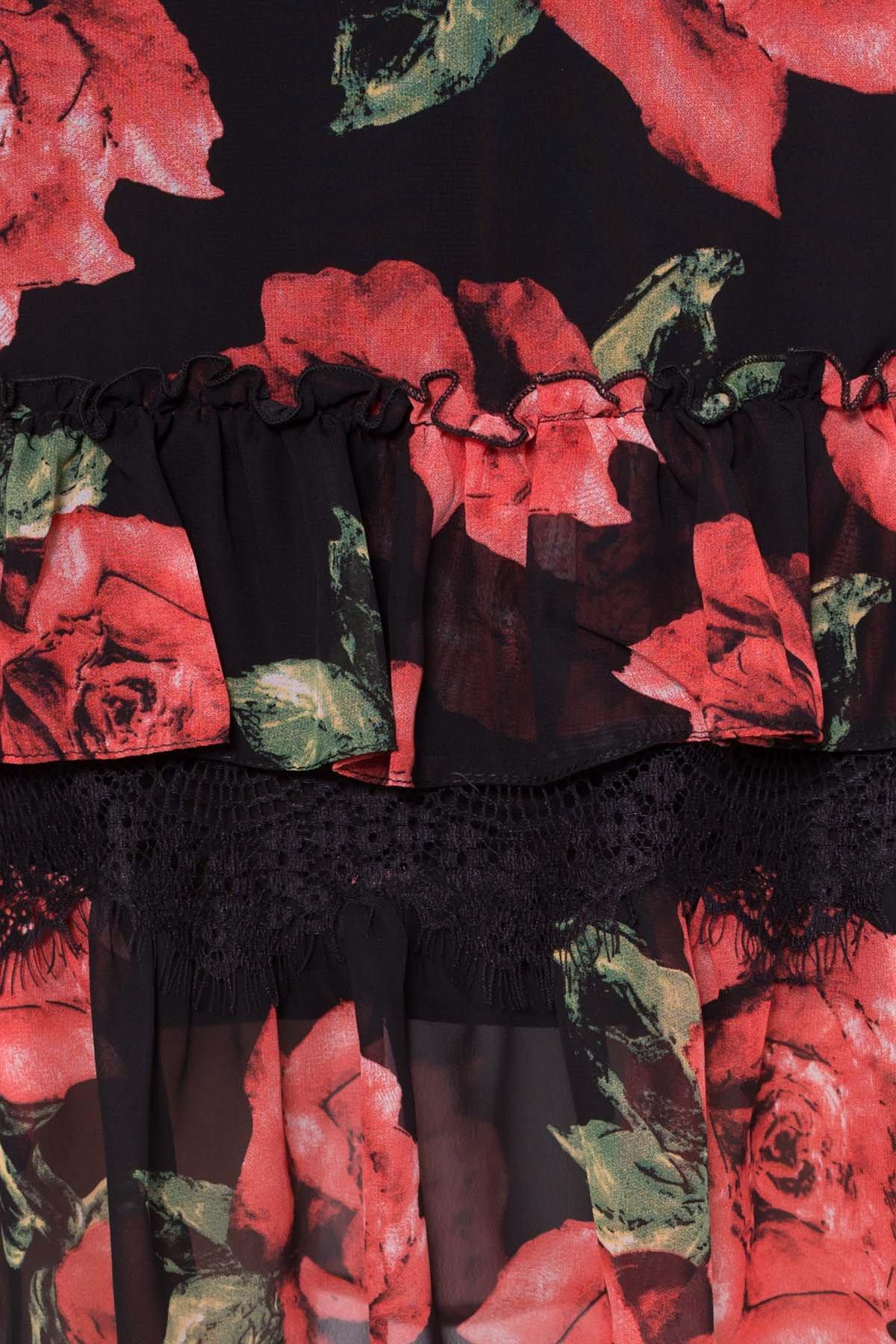 Платье Нектар 6916 АРТ. 42958 Цвет: Розы Красные/Черные - фото 4, интернет магазин tm-modus.ru