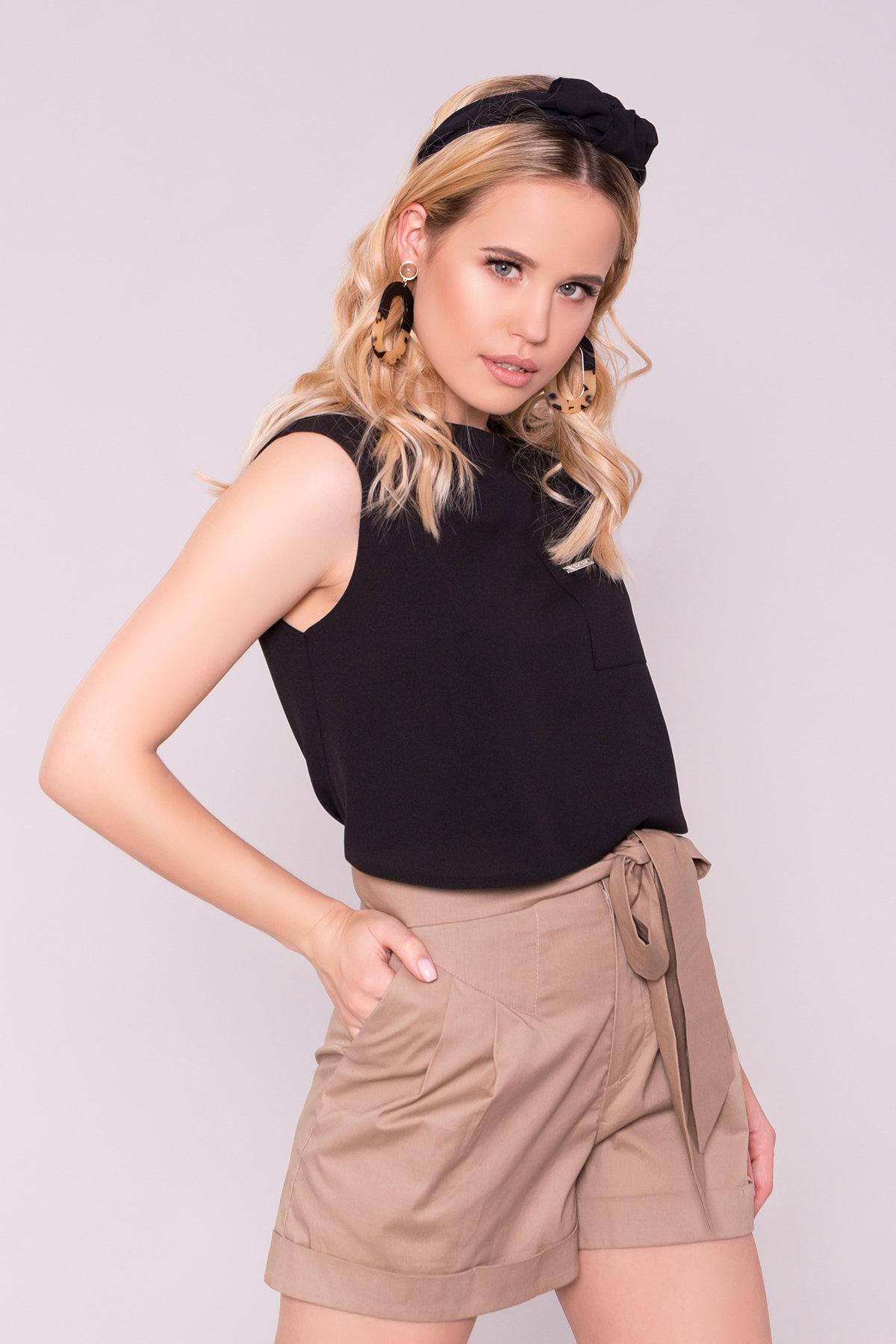 Блуза Девайс 7324 АРТ. 42984 Цвет: Черный - фото 3, интернет магазин tm-modus.ru