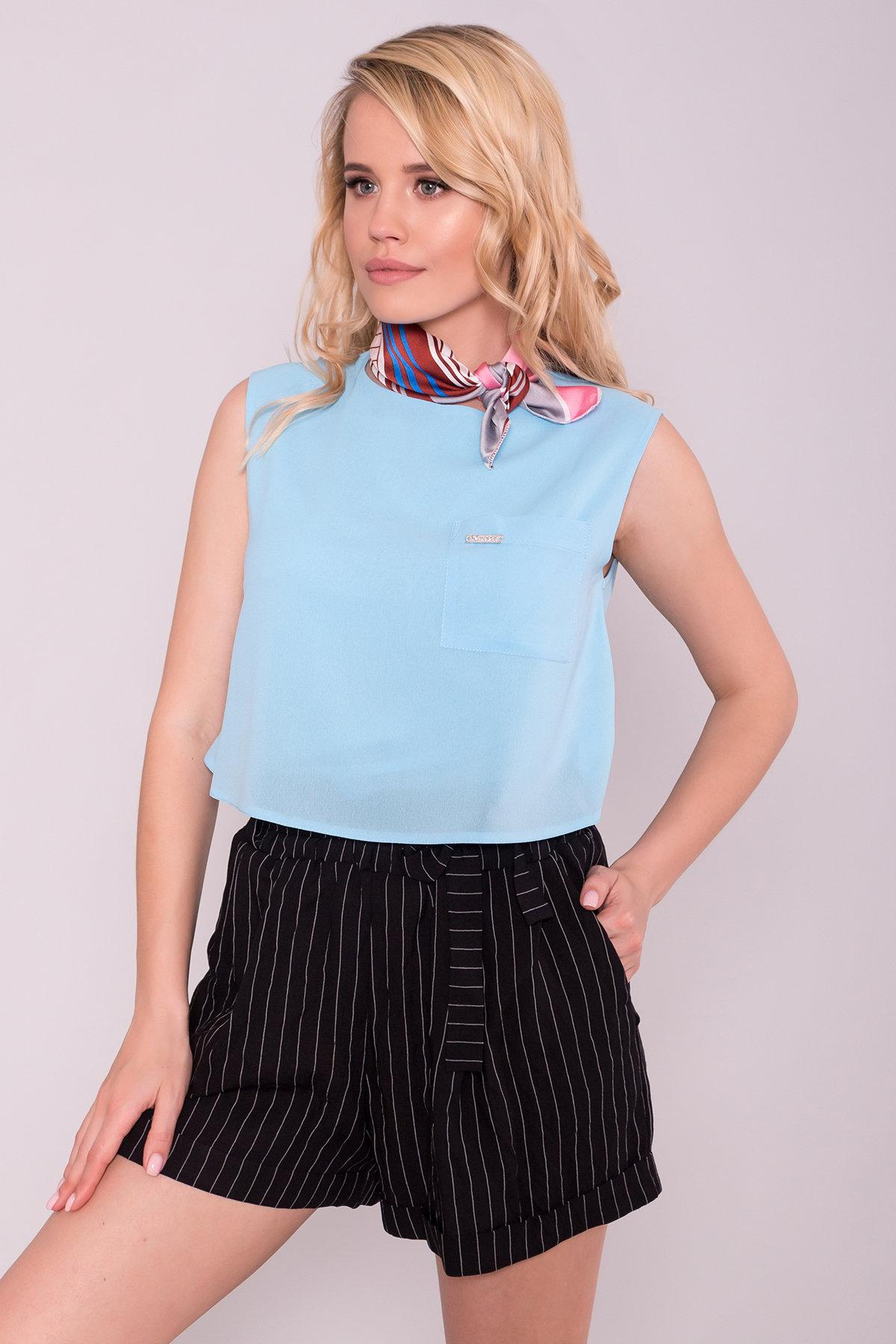 Блуза Девайс 7324 АРТ. 42981 Цвет: Голубой 311 - фото 3, интернет магазин tm-modus.ru