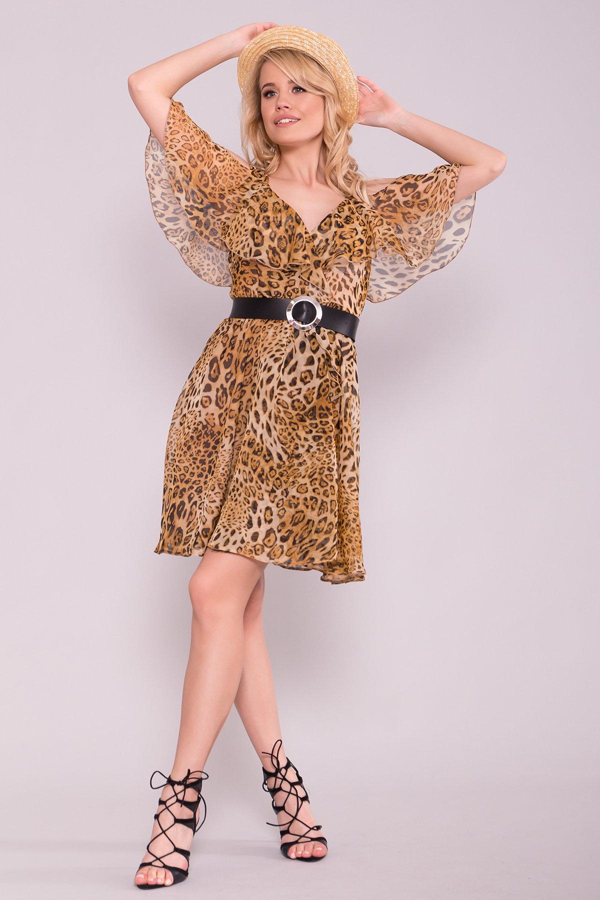 модное платье на весну Платье животный принт Нуара 6925