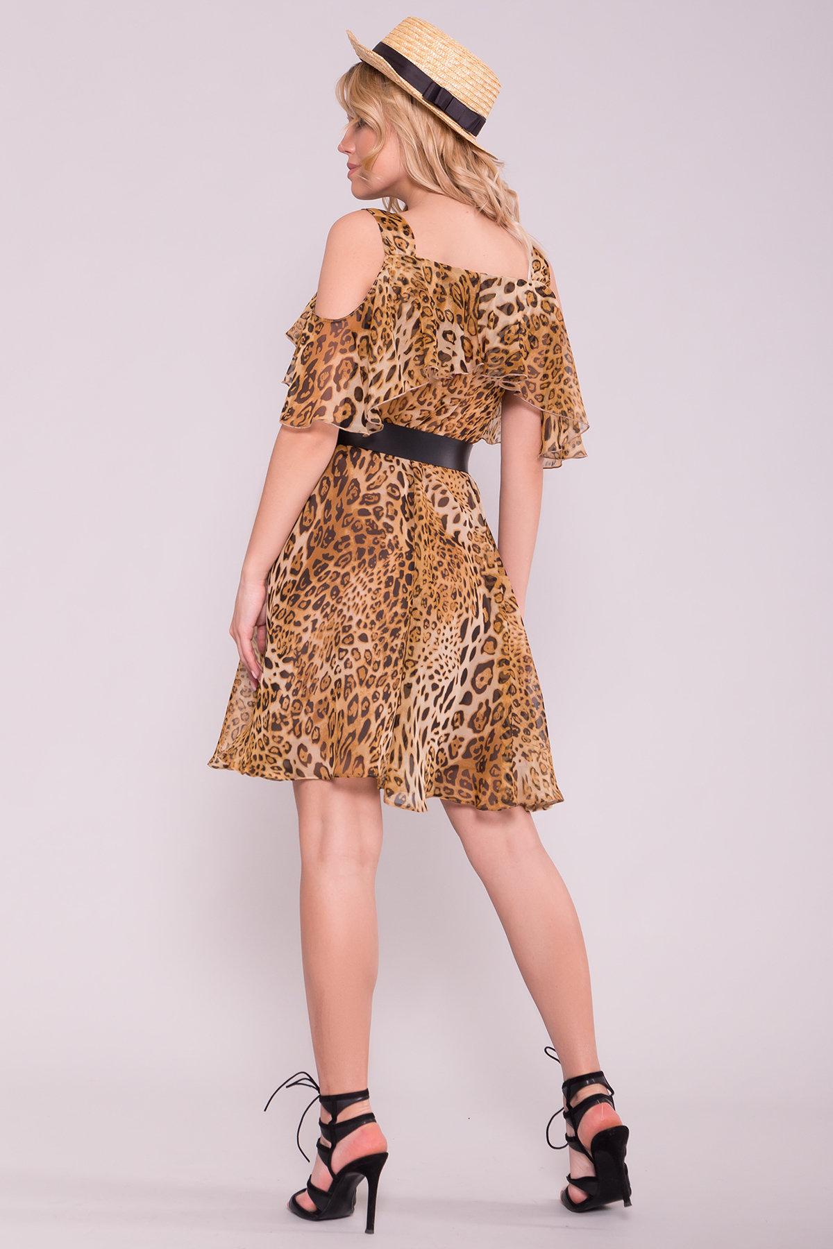 Платье животный принт Нуара 6925 АРТ. 43015 Цвет: Леопард 2 - фото 2, интернет магазин tm-modus.ru