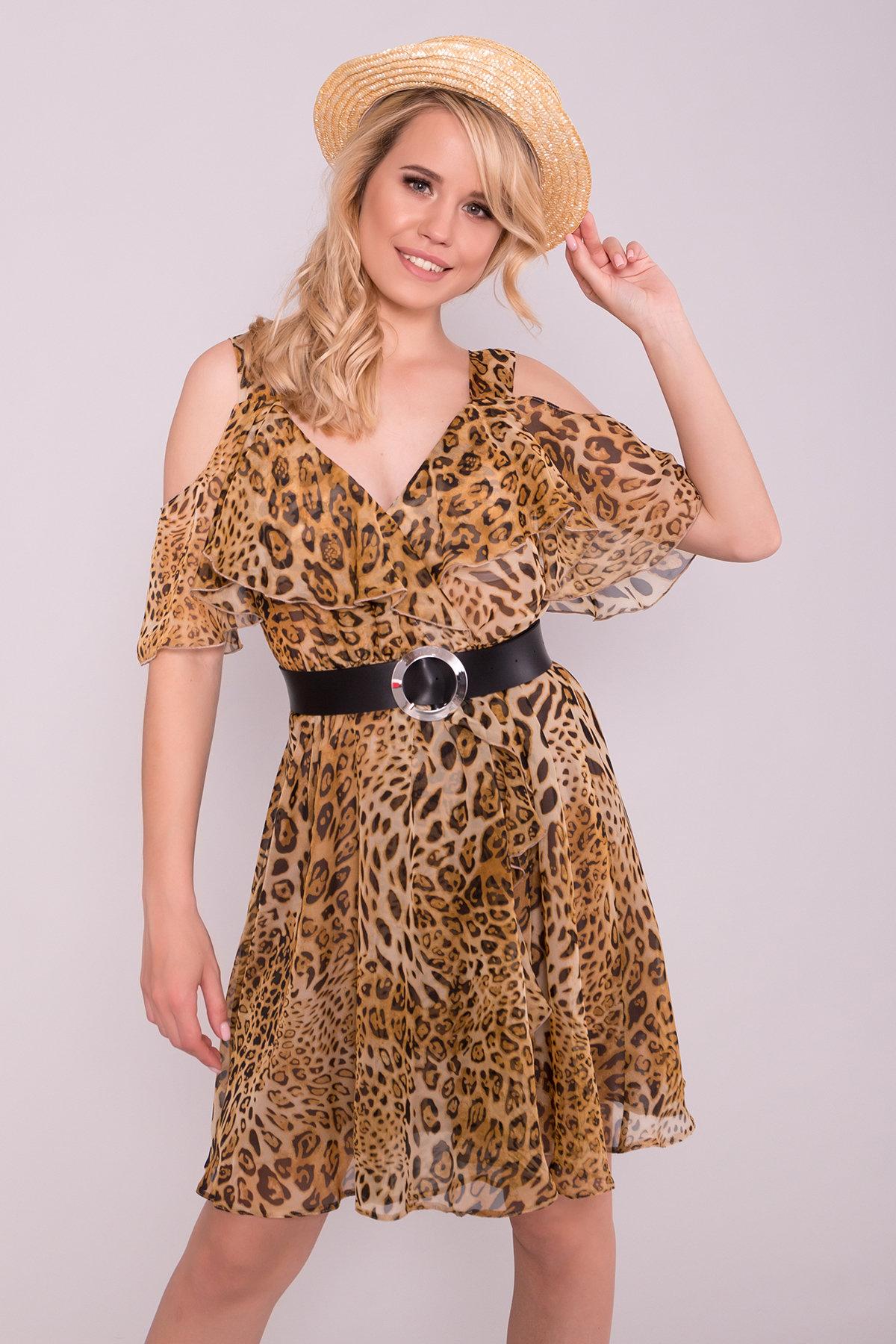 Платье животный принт Нуара 6925 АРТ. 43015 Цвет: Леопард 2 - фото 3, интернет магазин tm-modus.ru