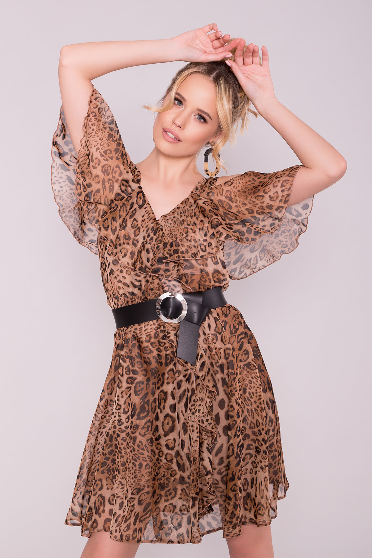 Платье животный принт Нуара 6925 АРТ. 43014 Цвет: Леопард 1 - фото 3, интернет магазин tm-modus.ru