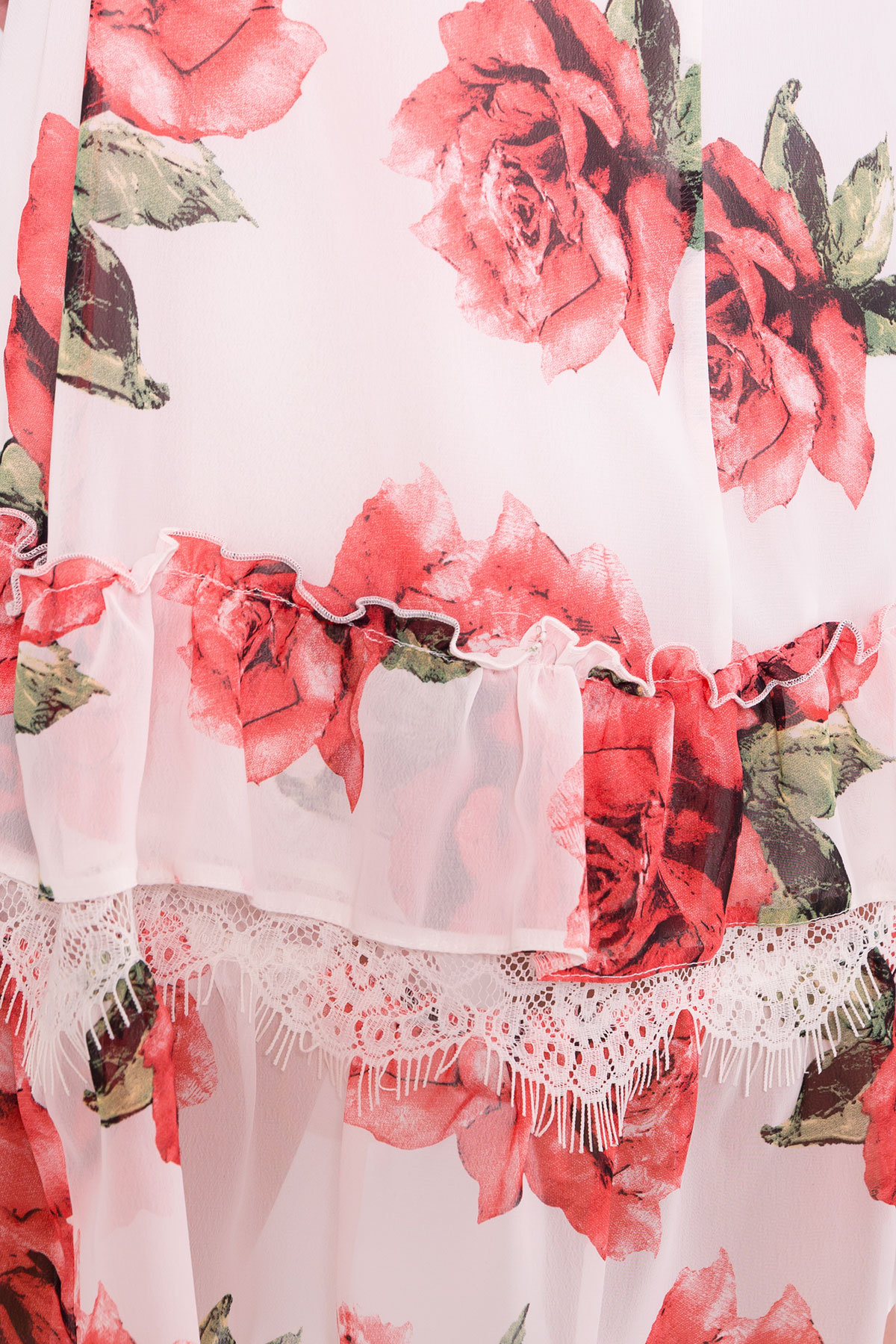 Платье Нектар 6916 АРТ. 42959 Цвет: Розы Красные/Молоко - фото 4, интернет магазин tm-modus.ru