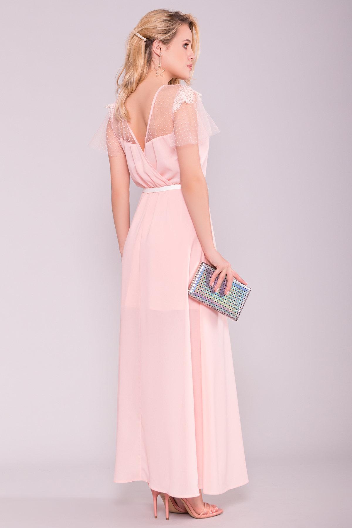 Платье Австралия 7333 АРТ. 43030 Цвет: Пудра Светлая - фото 2, интернет магазин tm-modus.ru