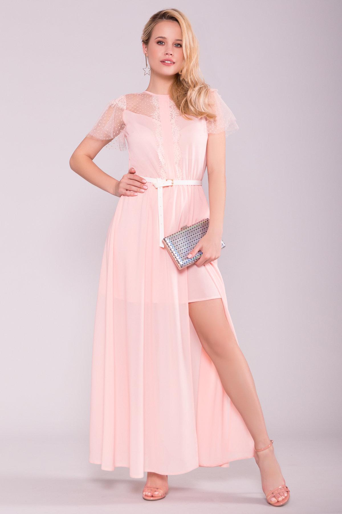 Платье Австралия 7333 АРТ. 43030 Цвет: Пудра Светлая - фото 3, интернет магазин tm-modus.ru