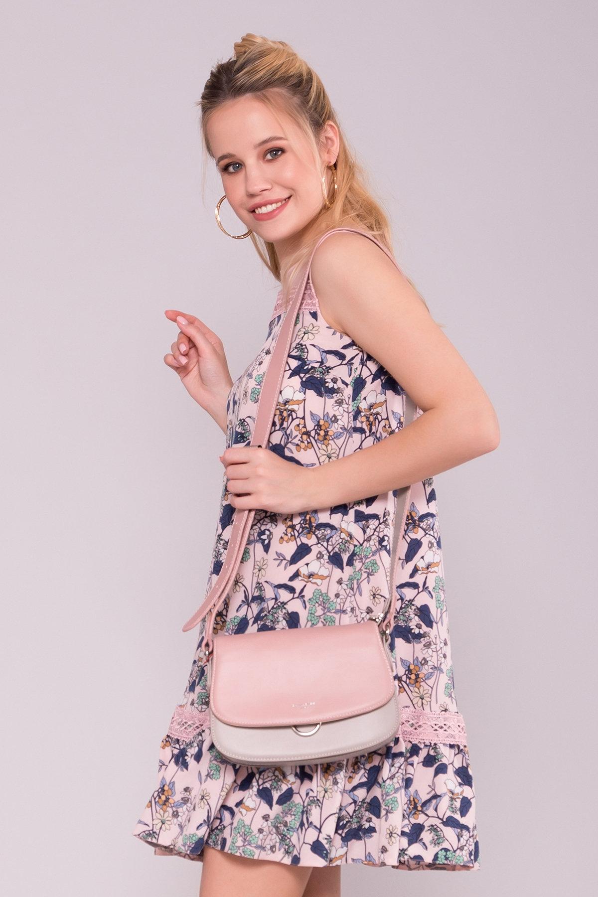Платье Инга 7063 АРТ. 43066 Цвет: Абстрак цветы/пудра - фото 3, интернет магазин tm-modus.ru