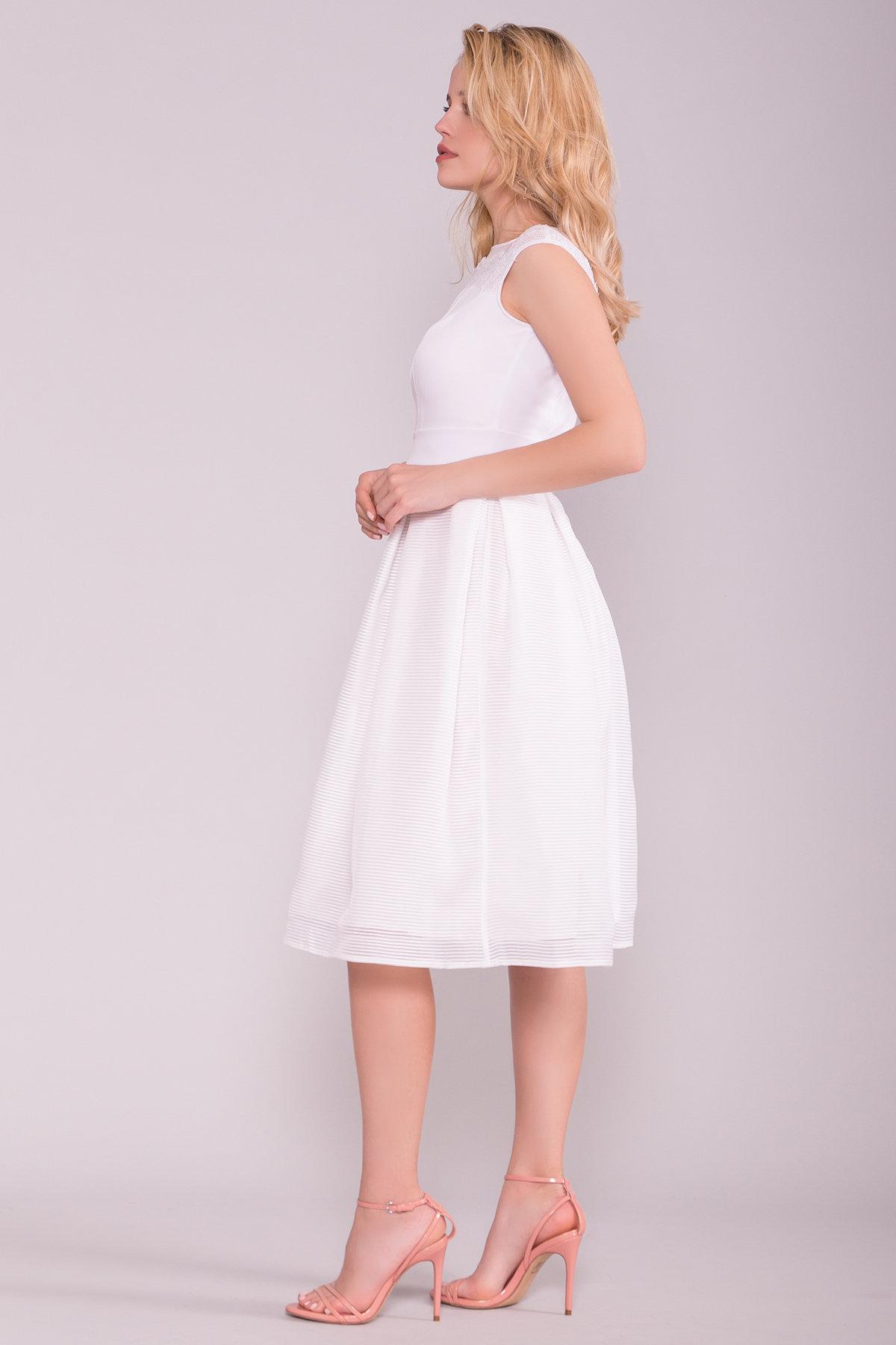 Платье Зарина 6989 АРТ. 43099 Цвет: Белый - фото 2, интернет магазин tm-modus.ru