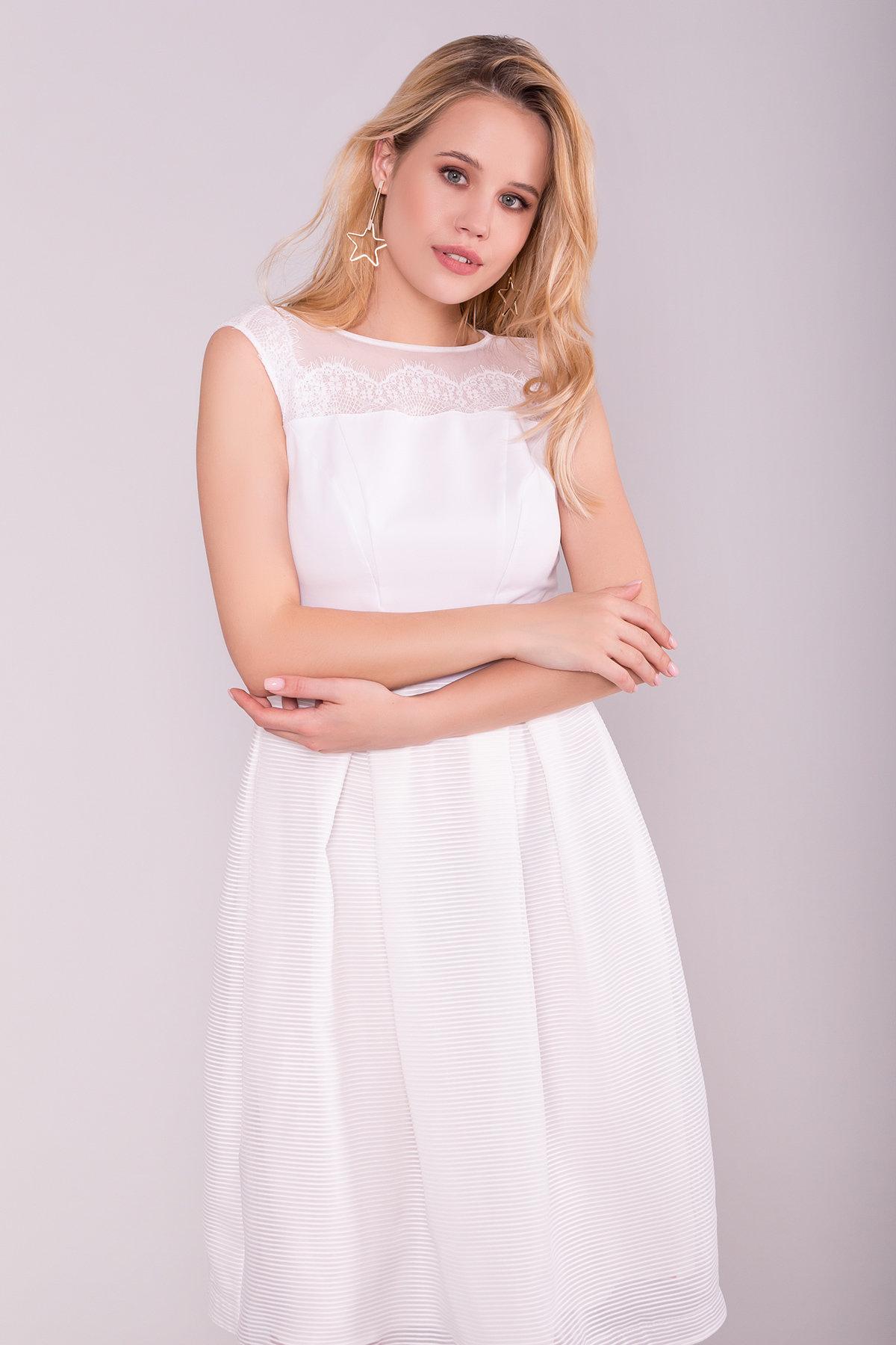 Платье Зарина 6989 АРТ. 43099 Цвет: Белый - фото 3, интернет магазин tm-modus.ru