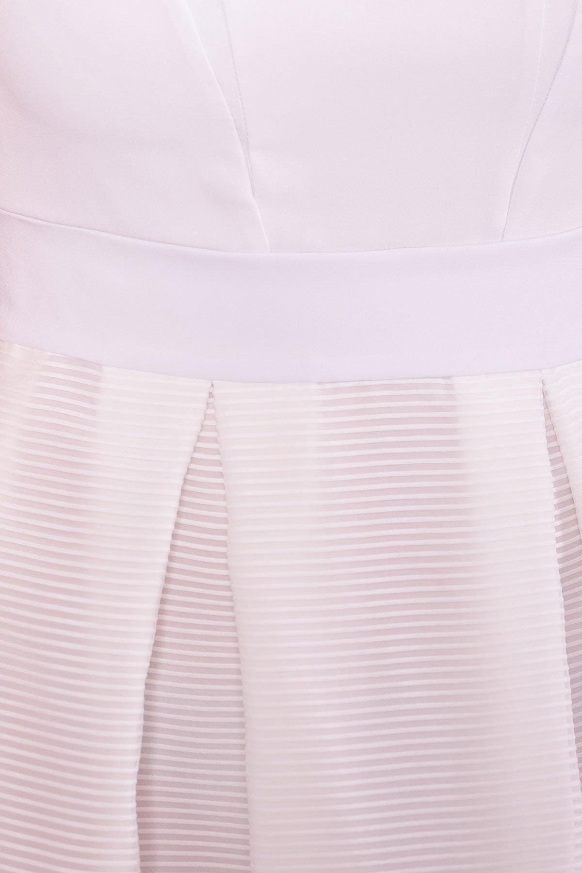 Платье Зарина 6989 АРТ. 43099 Цвет: Белый - фото 4, интернет магазин tm-modus.ru