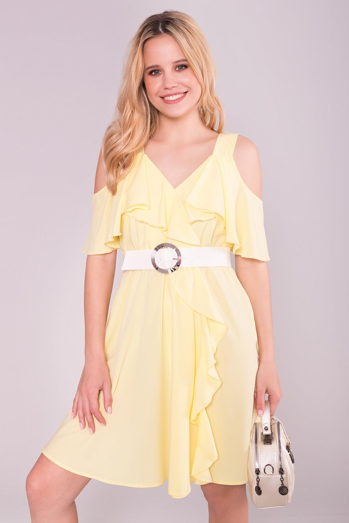 Платье Нуара 7358 АРТ. 43101 Цвет: Желтый - фото 3, интернет магазин tm-modus.ru