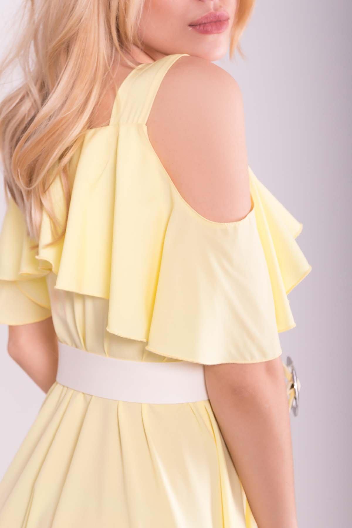 Платье Нуара 7358 АРТ. 43101 Цвет: Желтый - фото 4, интернет магазин tm-modus.ru