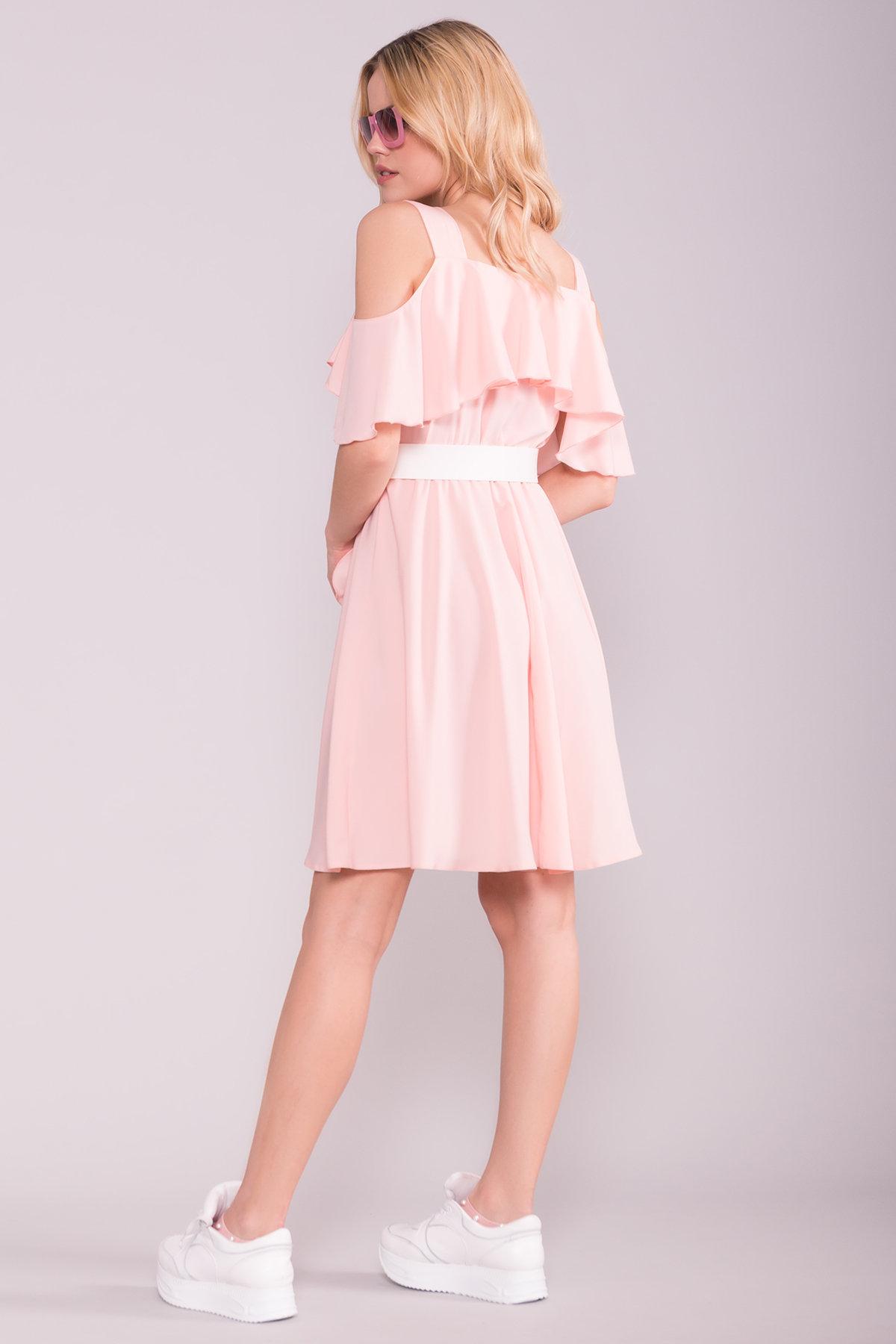 Платье Нуара 7358 АРТ. 43102 Цвет: Пудра 7 - фото 2, интернет магазин tm-modus.ru