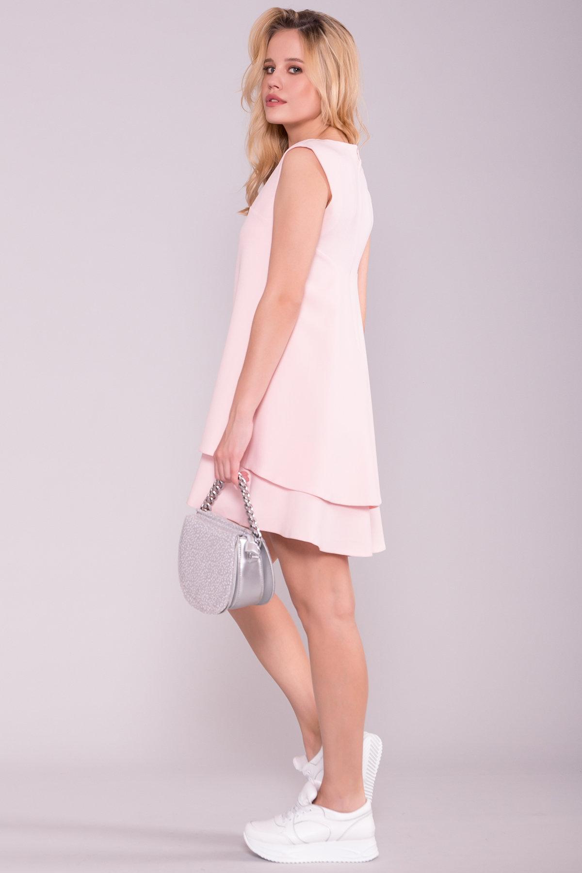Платье Делафер 2965 Цвет: Пудра Светлая