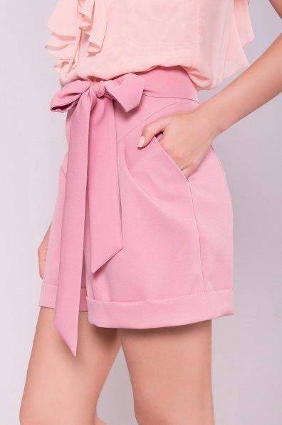 Однотонные шорты Камю 7329 Цвет: Пудра