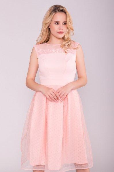 Платье Зарина 6989 Цвет: Пудра светлая