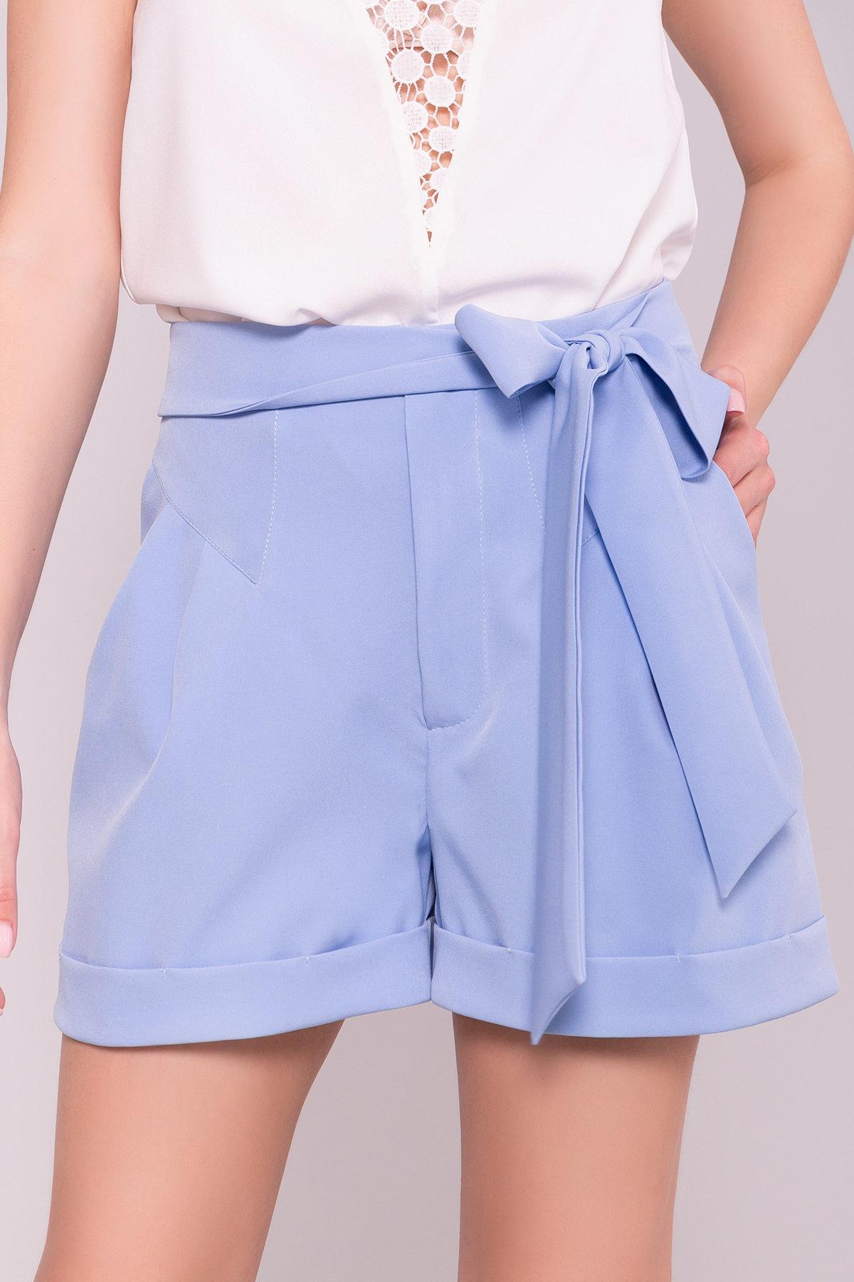 Однотонные шорты Камю 7329 Цвет: Голубой