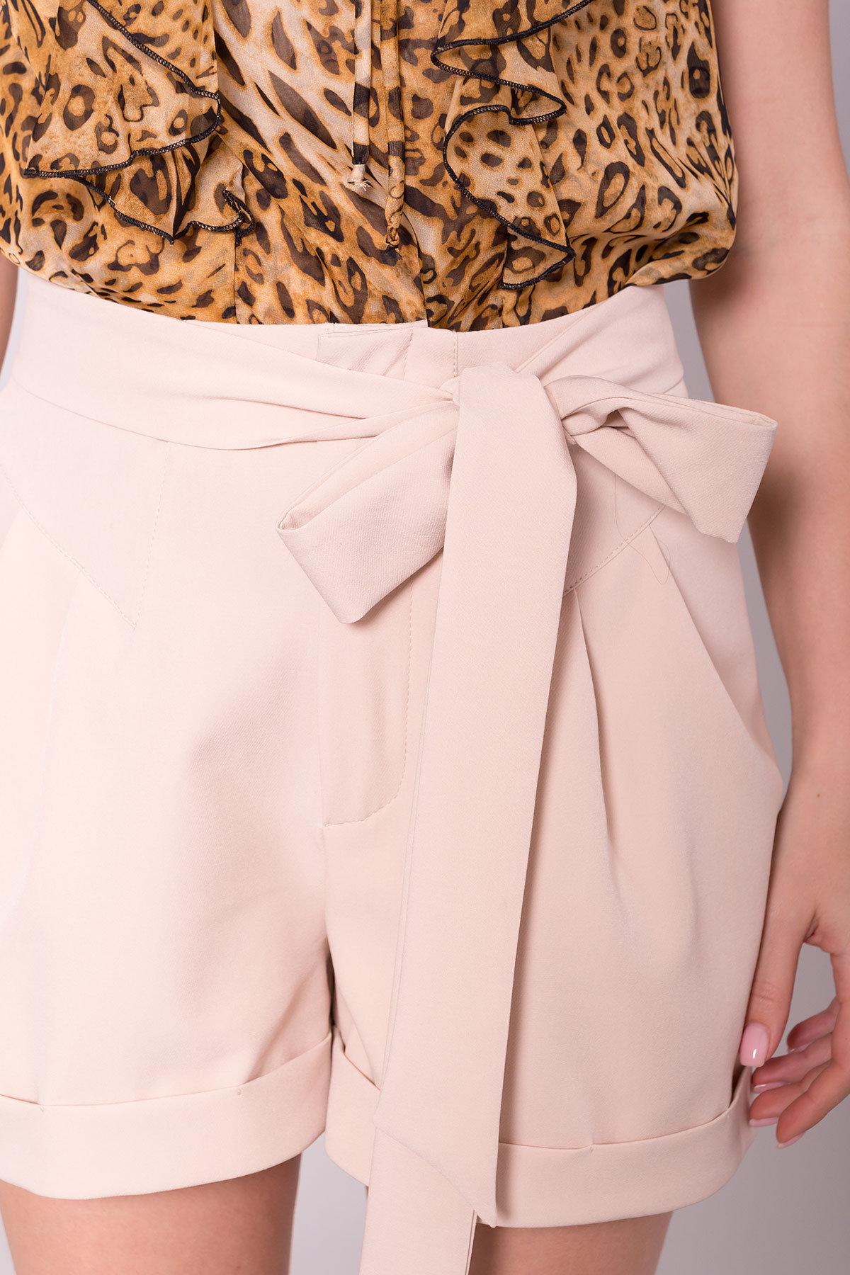 Однотонные шорты Камю 7329 Цвет: Бежевый Светлый