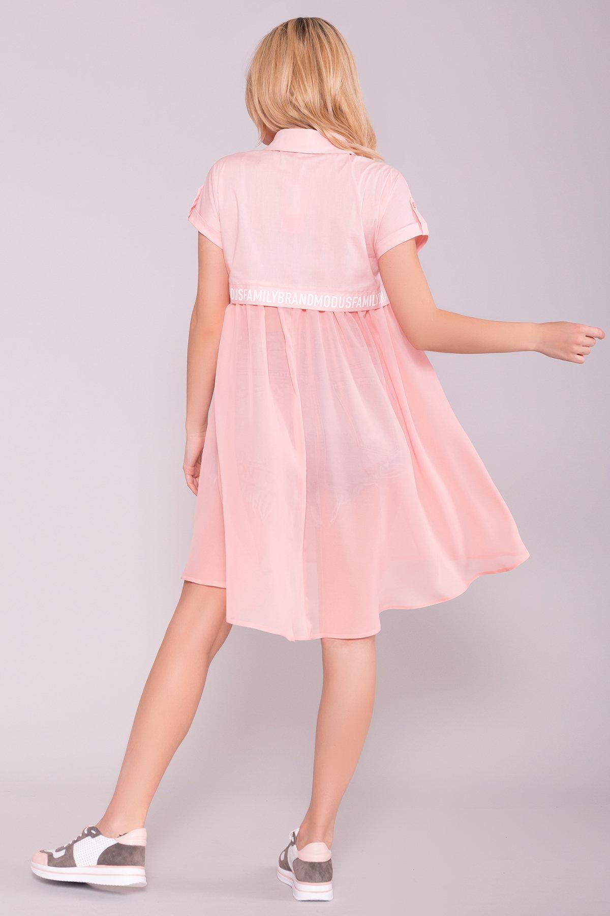 Платье-рубашка Саби  7268 АРТ. 42848 Цвет: Пудра - фото 2, интернет магазин tm-modus.ru