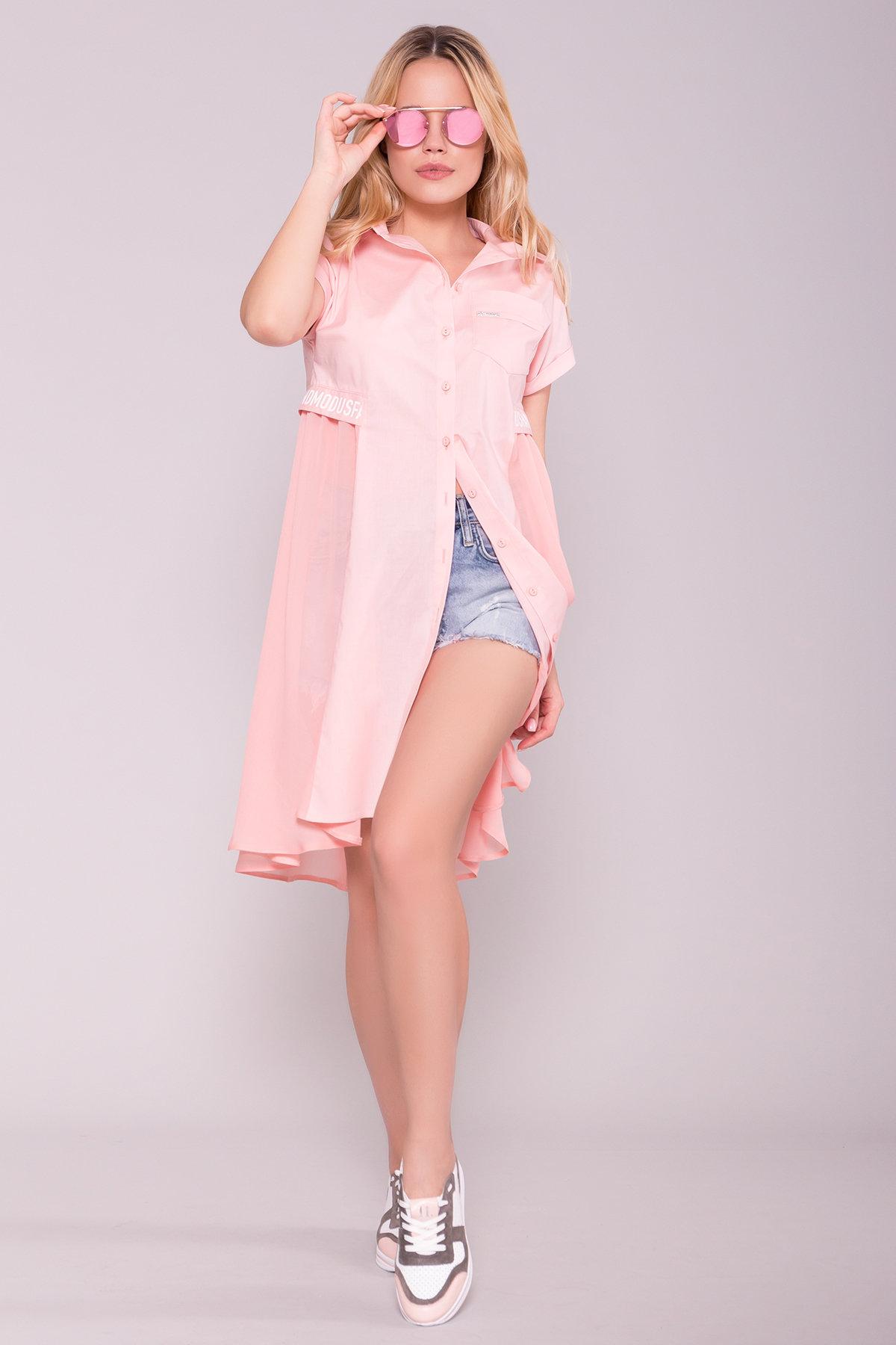 Платье-рубашка Саби  7268 АРТ. 42848 Цвет: Пудра - фото 3, интернет магазин tm-modus.ru