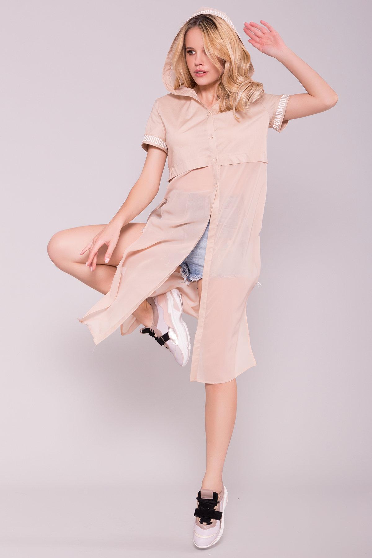 Платье-рубашка Фиджи 7139 Цвет: Бежевый