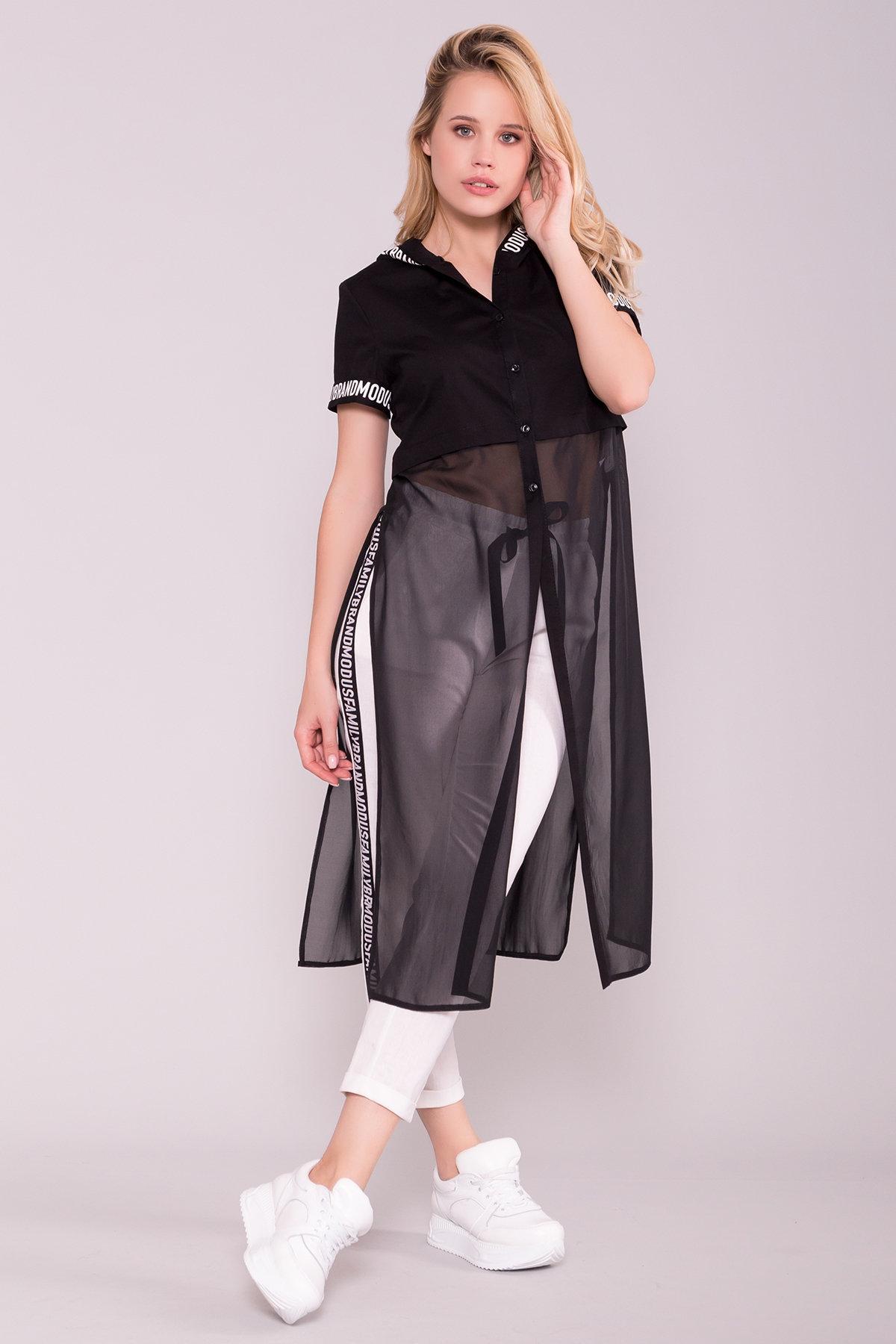 Платье-рубашка Фиджи 7139 Цвет: Черный