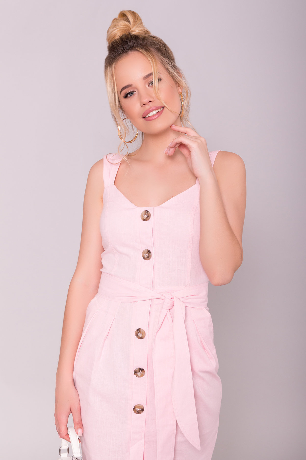 Платье Унгаро 7274 АРТ. 43068 Цвет: Розовый - фото 3, интернет магазин tm-modus.ru