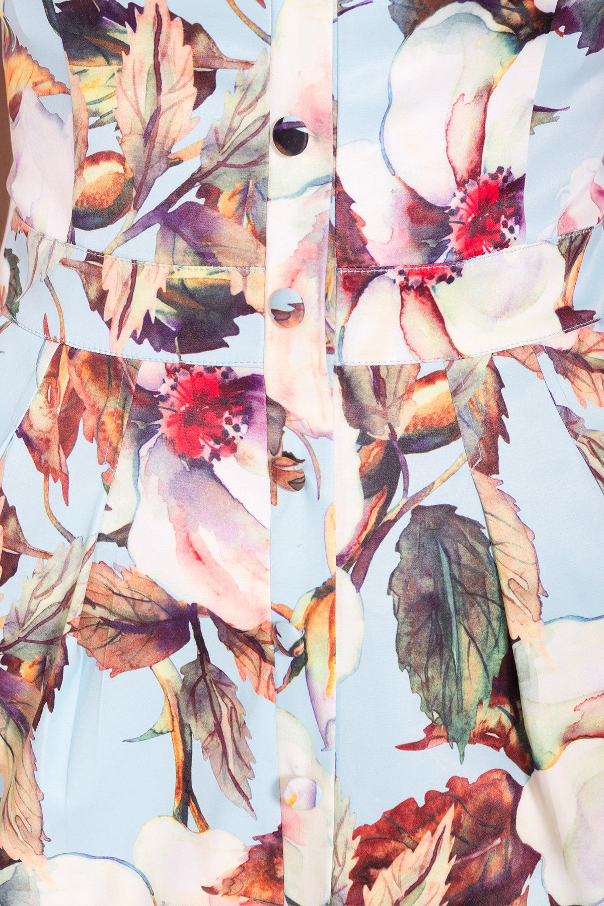 Платье Унгаро 7273 АРТ. 43145 Цвет: Цветы кр голуб/молок - фото 4, интернет магазин tm-modus.ru