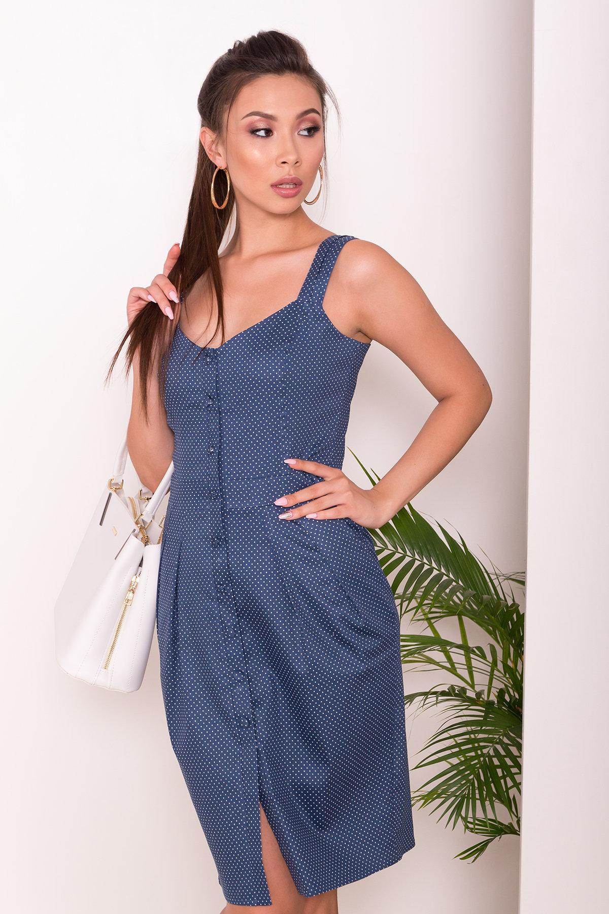 Платье Унгаро 7273 Цвет: Горох мурена/молок