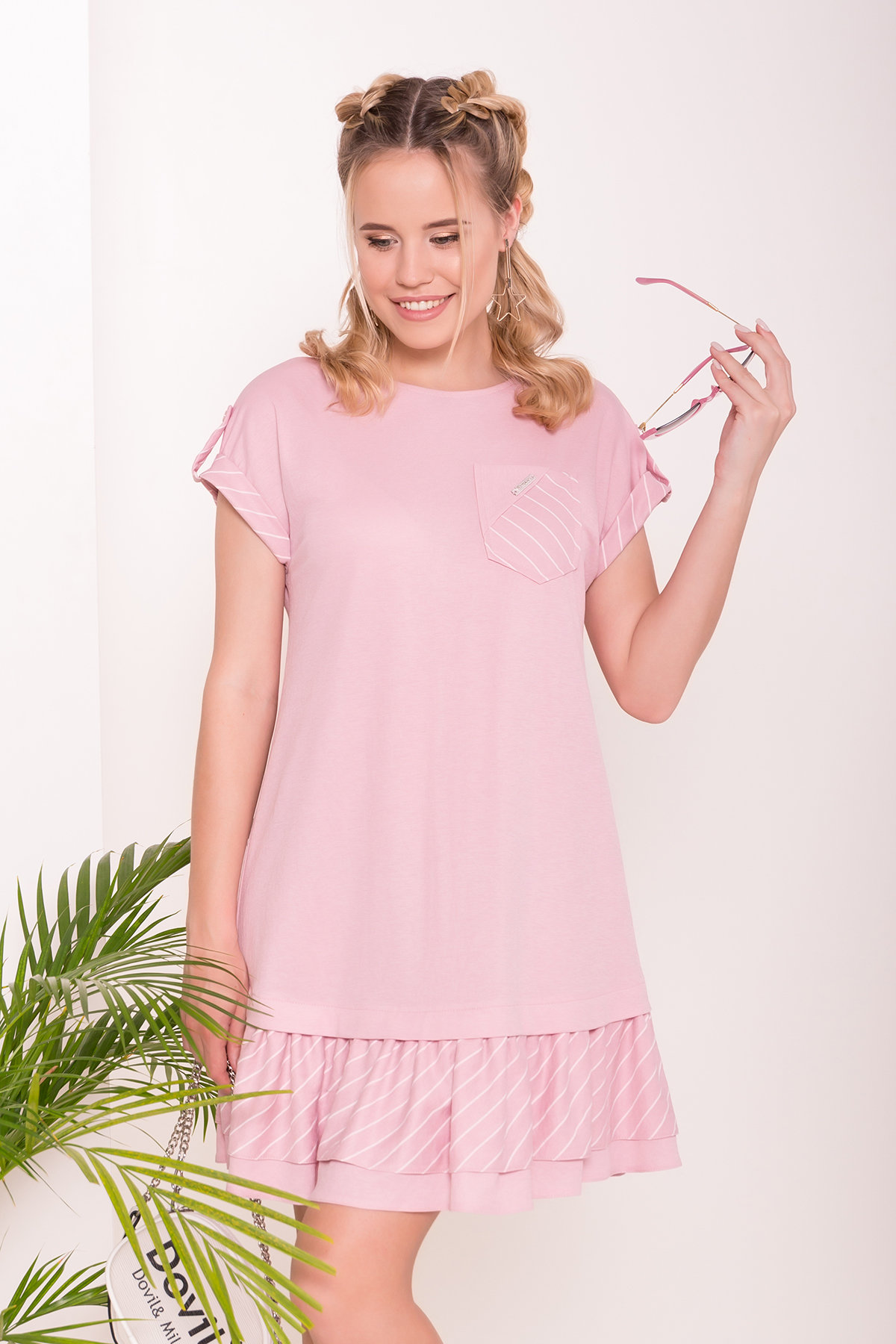 Платье Шеги 7017 Цвет: Розовый