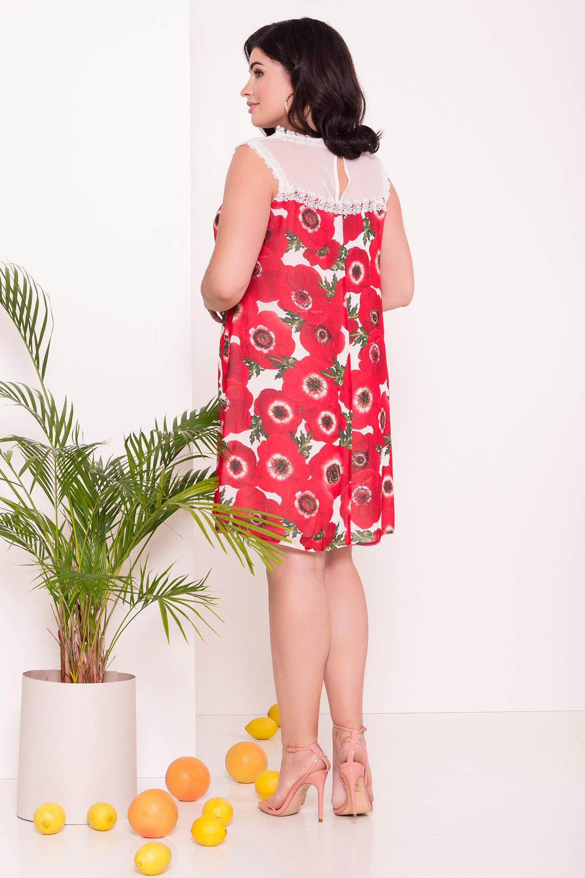 Платье Бриз Donna 7353 АРТ. 43163 Цвет: Маки молоко - фото 2, интернет магазин tm-modus.ru
