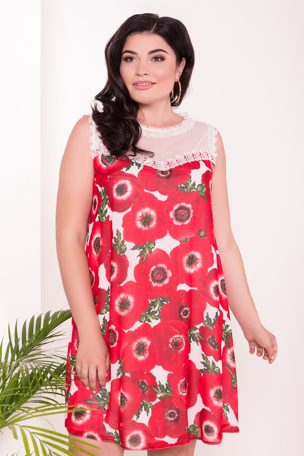 Платье Бриз Donna 7353 АРТ. 43163 Цвет: Маки молоко - фото 3, интернет магазин tm-modus.ru