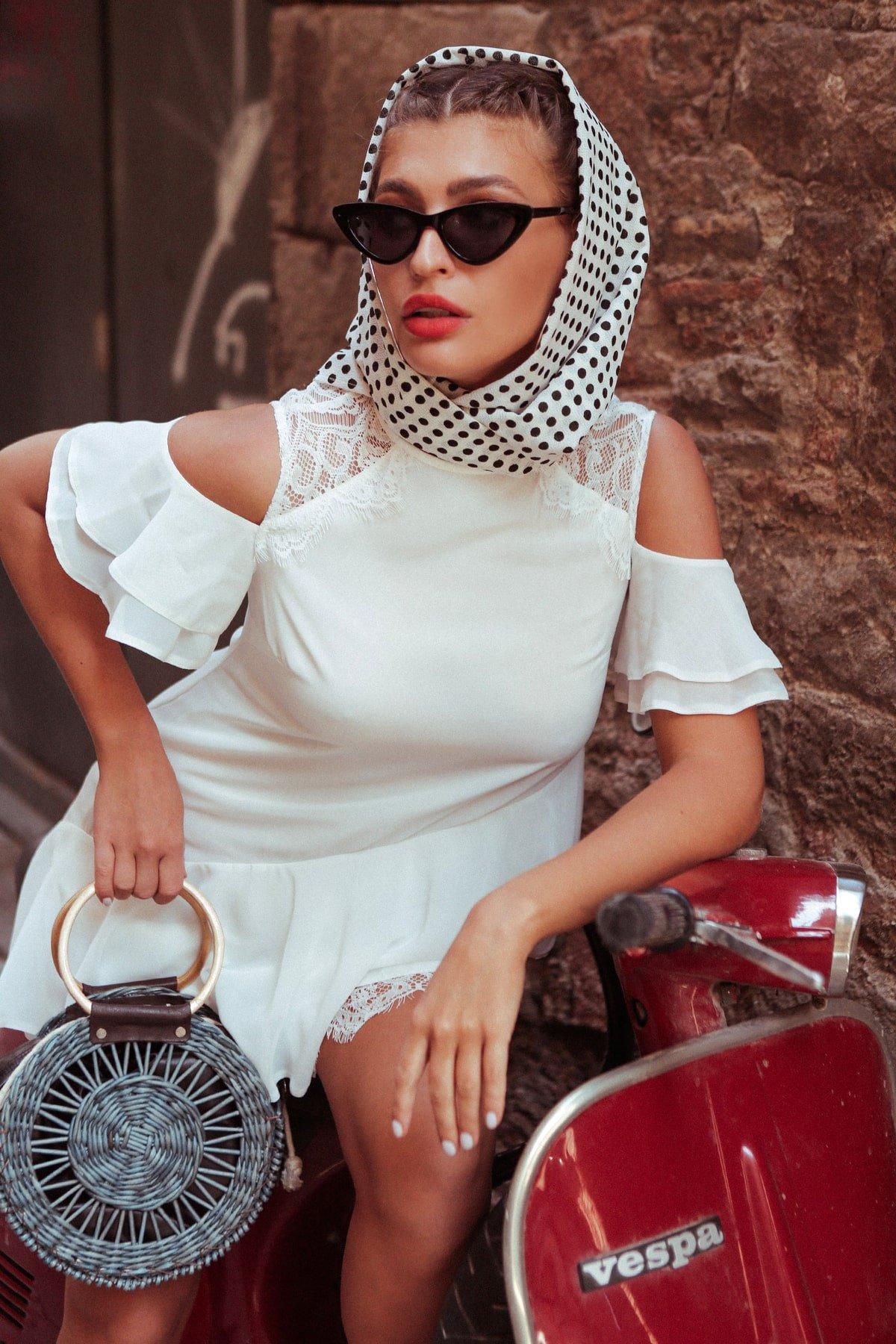 Платье Вито  7003 АРТ. 42411 Цвет: Молоко - фото 9, интернет магазин tm-modus.ru