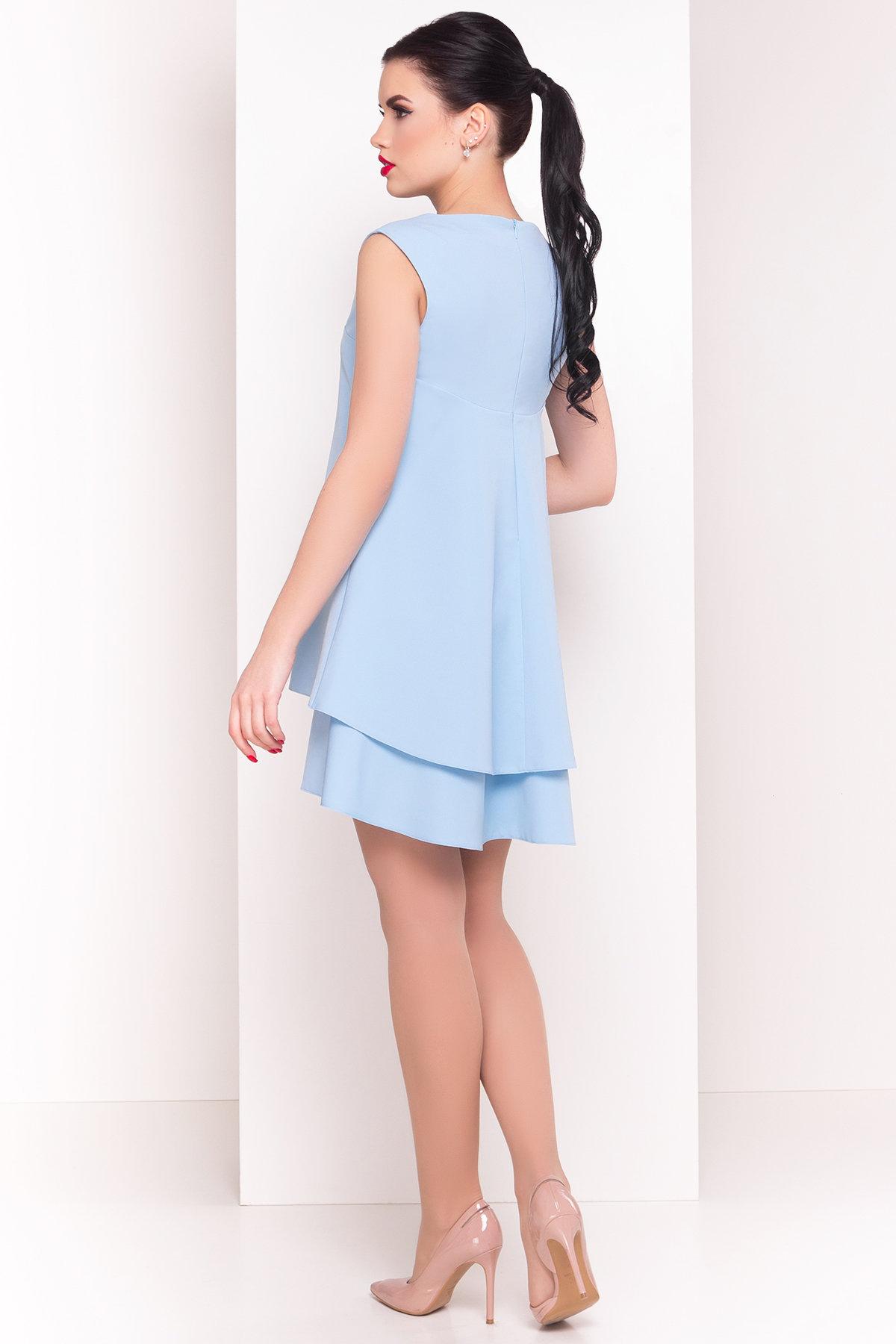Платье Делафер 2965 АРТ. 15711 Цвет: Голубой - фото 2, интернет магазин tm-modus.ru