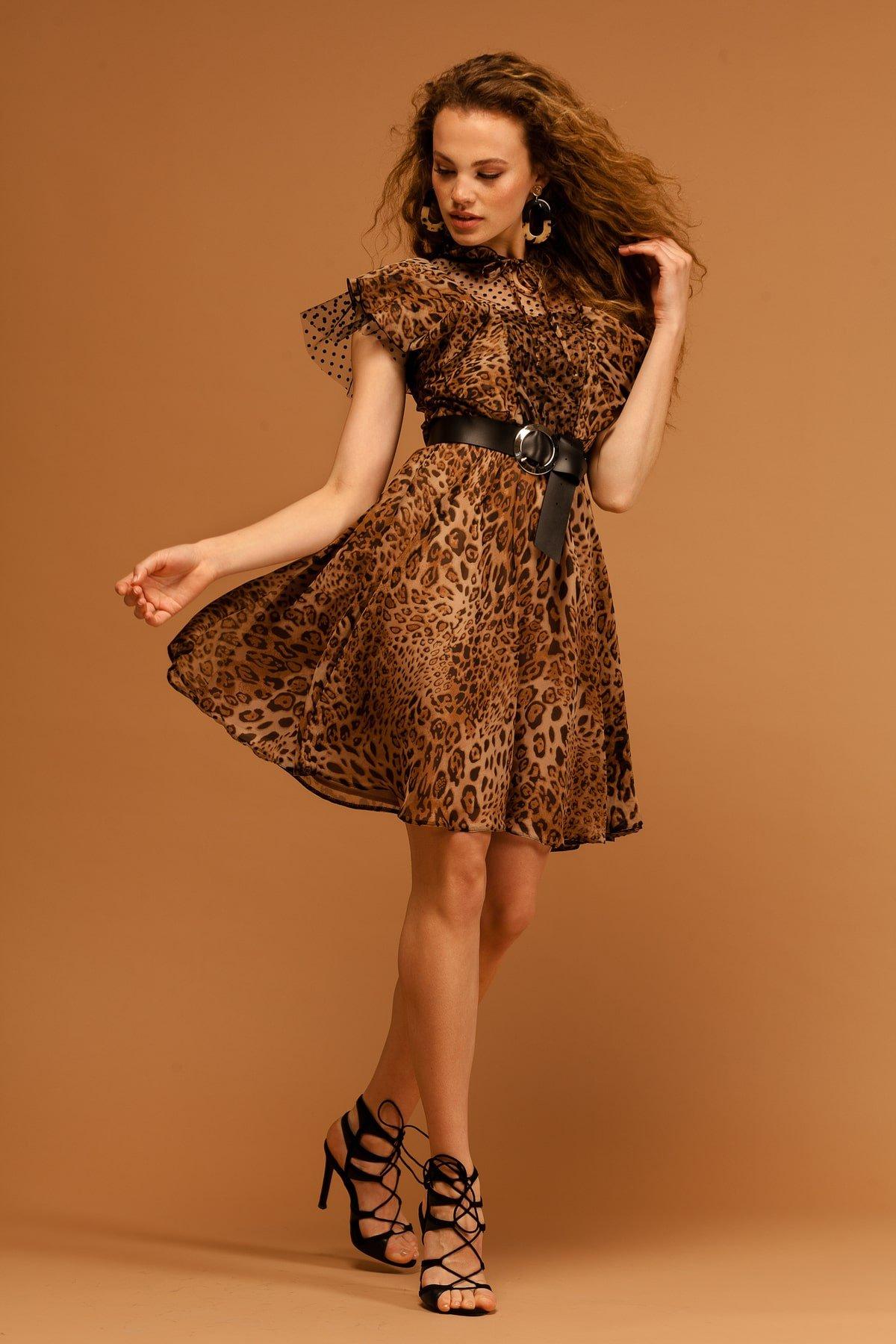 Платье Дали 7251 АРТ. 42805 Цвет: Леопард 1 - фото 4, интернет магазин tm-modus.ru