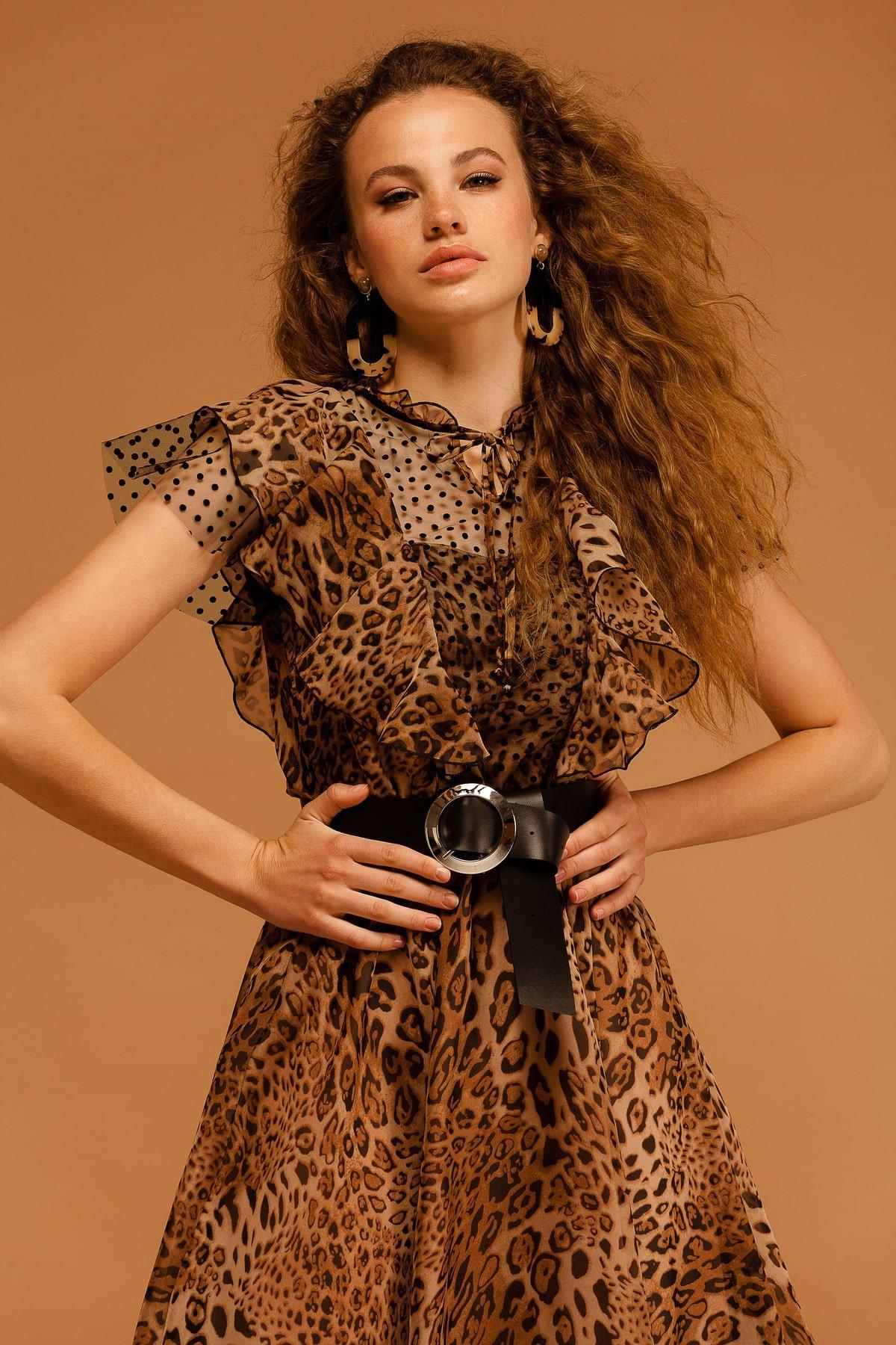 Платье Дали 7251 АРТ. 42805 Цвет: Леопард 1 - фото 6, интернет магазин tm-modus.ru