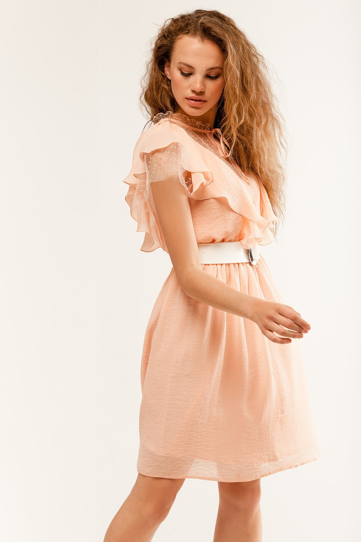Платье Дали 6992 АРТ. 42308 Цвет: Пудра - фото 4, интернет магазин tm-modus.ru