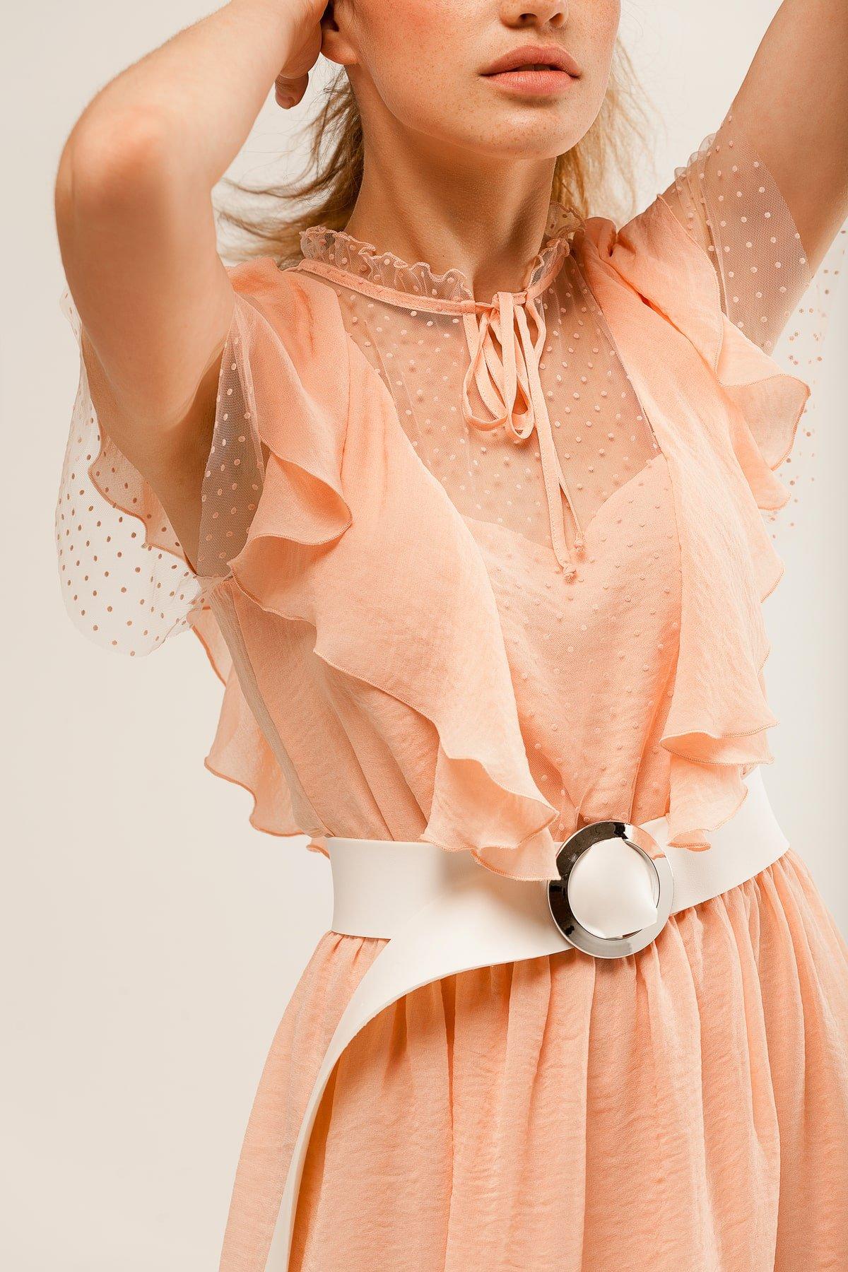 Платье Дали 6992 АРТ. 42308 Цвет: Пудра - фото 6, интернет магазин tm-modus.ru