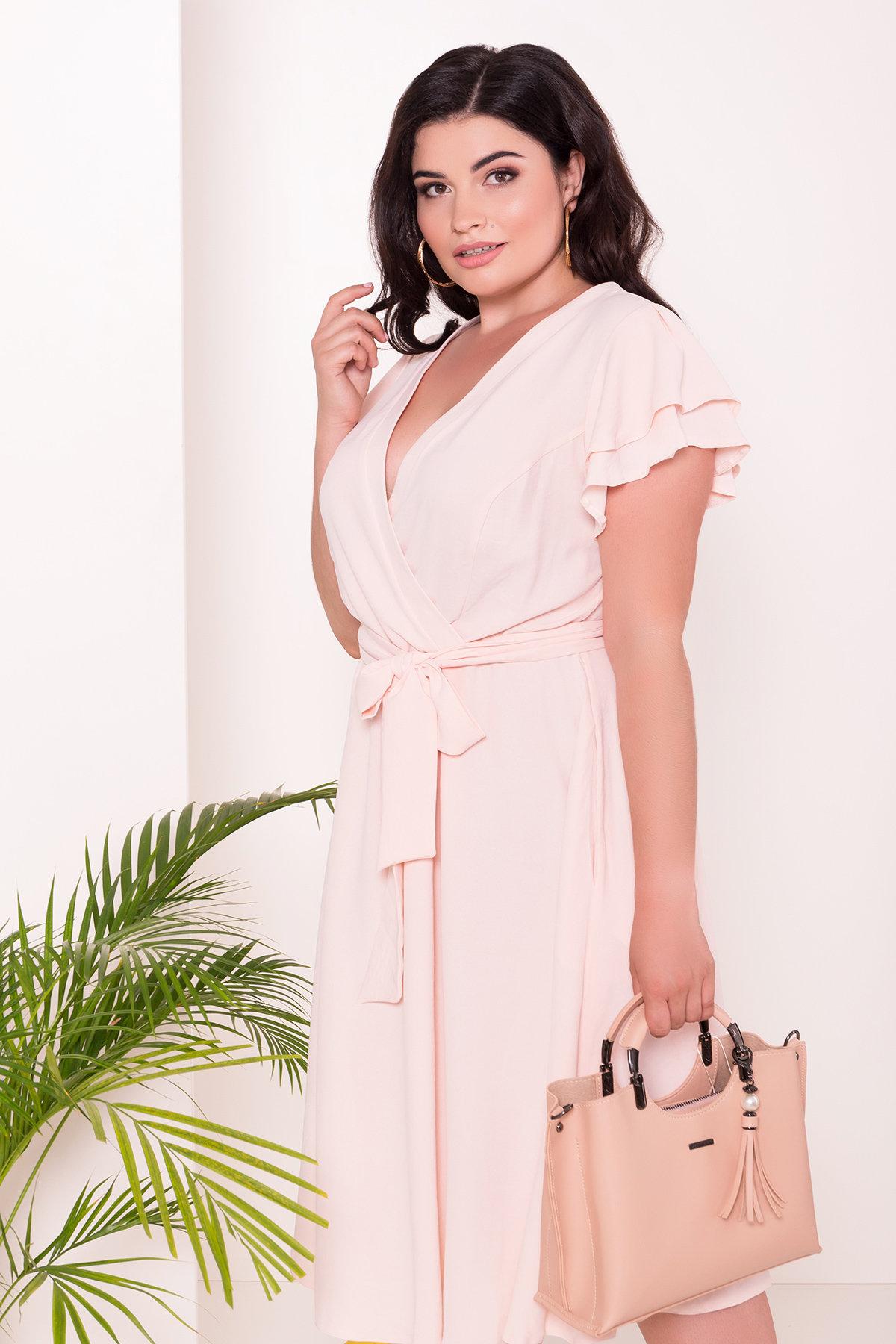 Платье Аделиса DONNA 7355 АРТ. 43074 Цвет: Пудра - фото 3, интернет магазин tm-modus.ru
