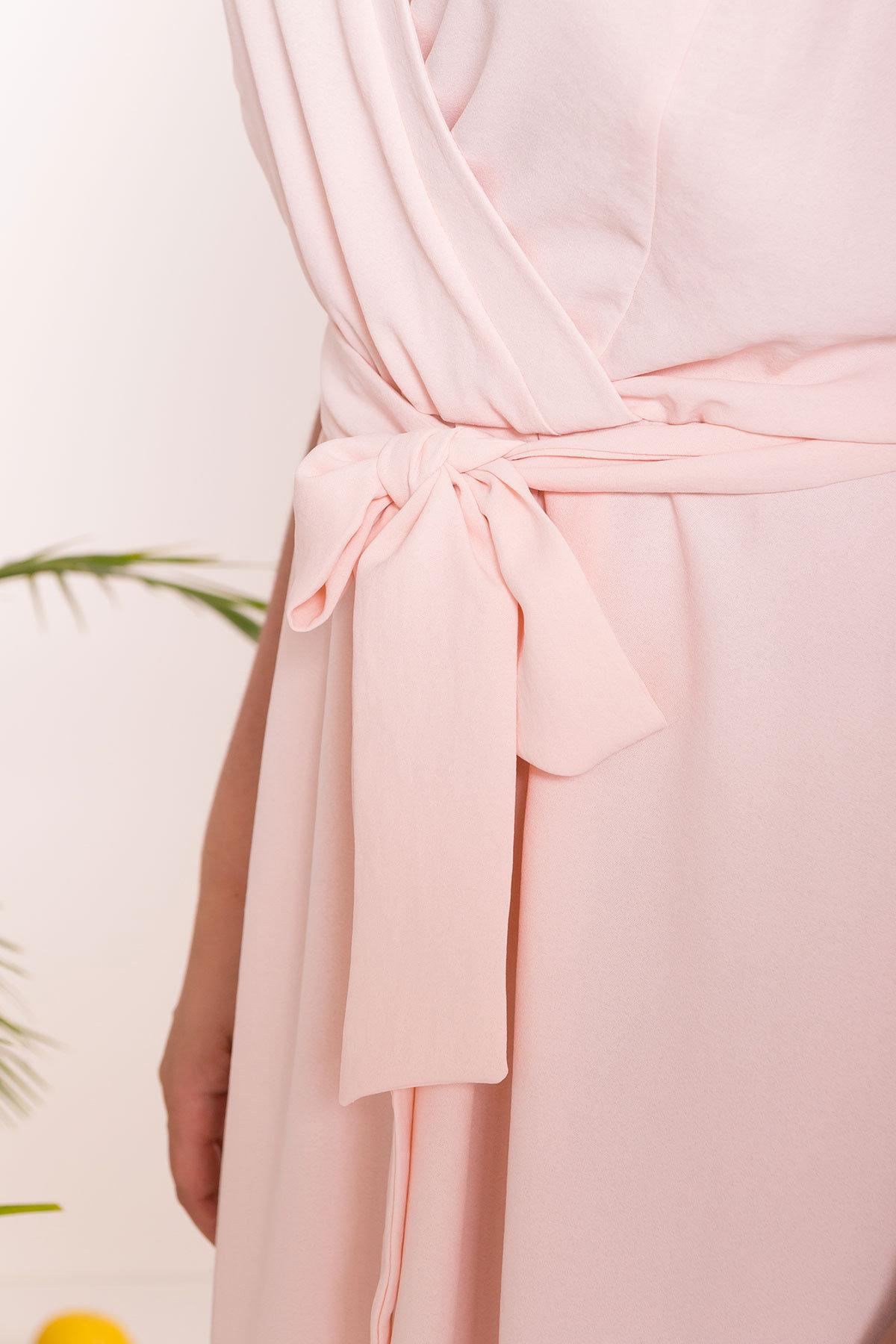 Платье Аделиса DONNA 7355 АРТ. 43074 Цвет: Пудра - фото 4, интернет магазин tm-modus.ru