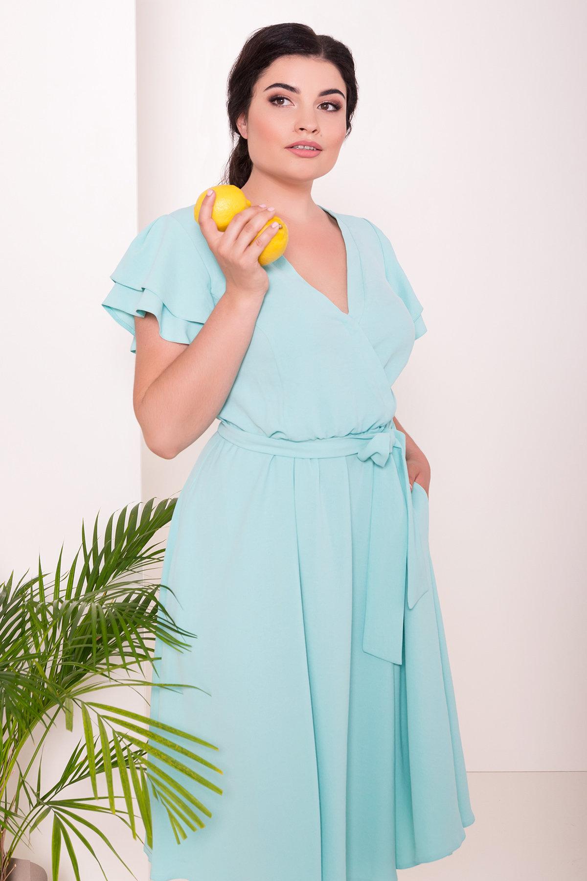 Платье Аделиса DONNA 7355 АРТ. 43164 Цвет: Мята - фото 3, интернет магазин tm-modus.ru