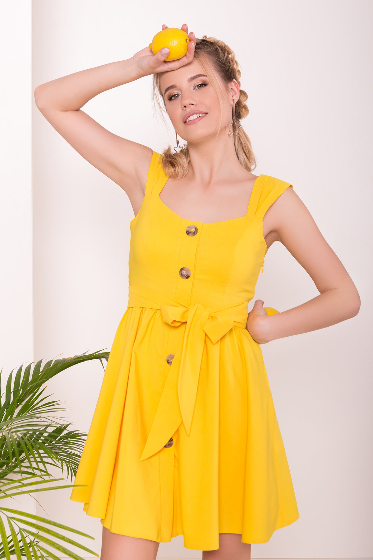 Платье Джонни 7413 Цвет: Желтый