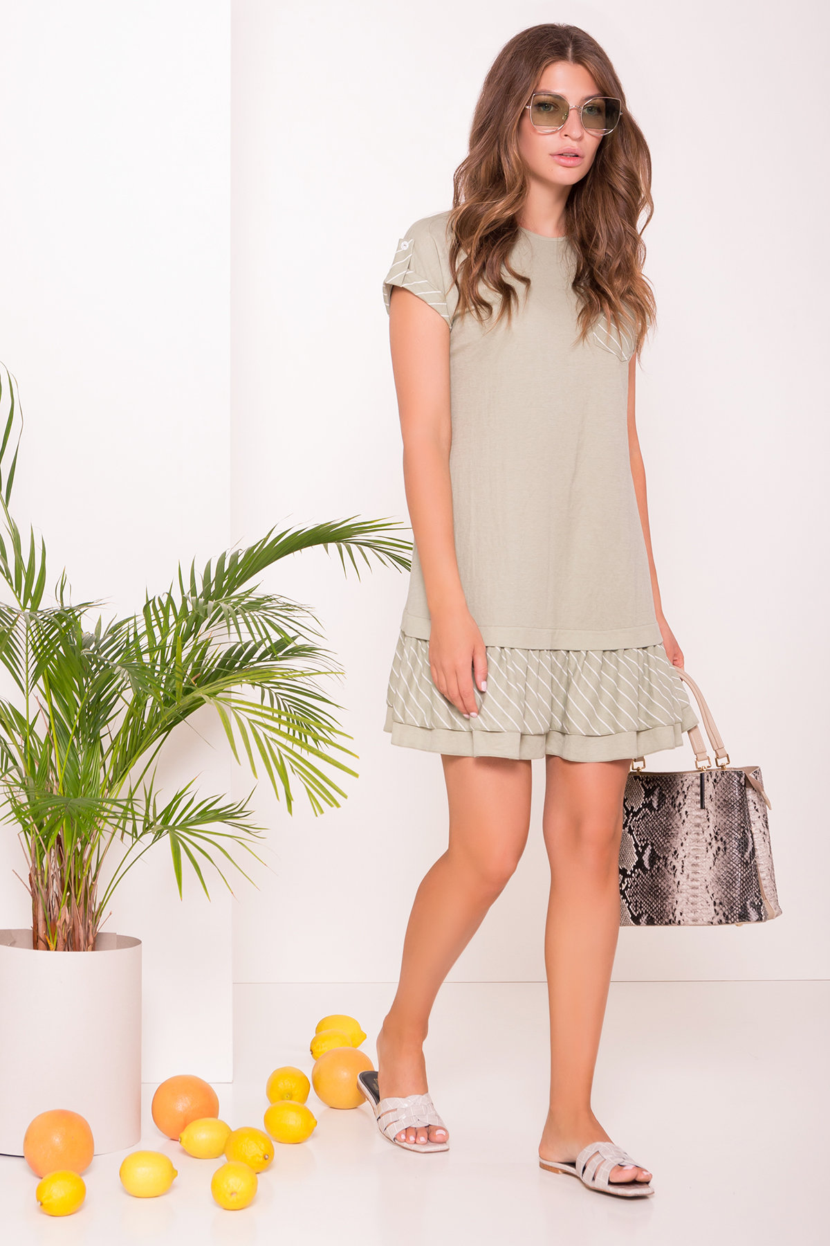 Платье Шеги 7017 Цвет: Олива