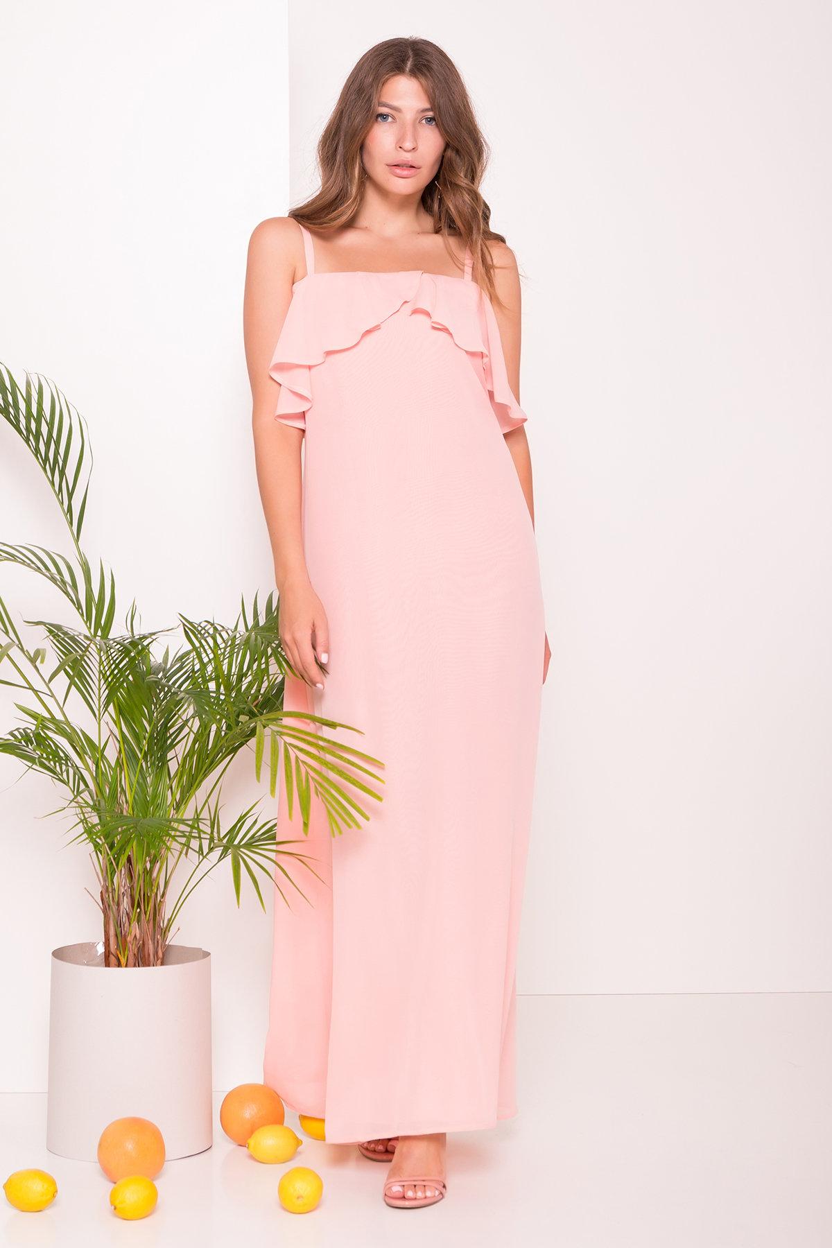 Платье Пикабу 7449 АРТ. 43246 Цвет: Персик - фото 3, интернет магазин tm-modus.ru