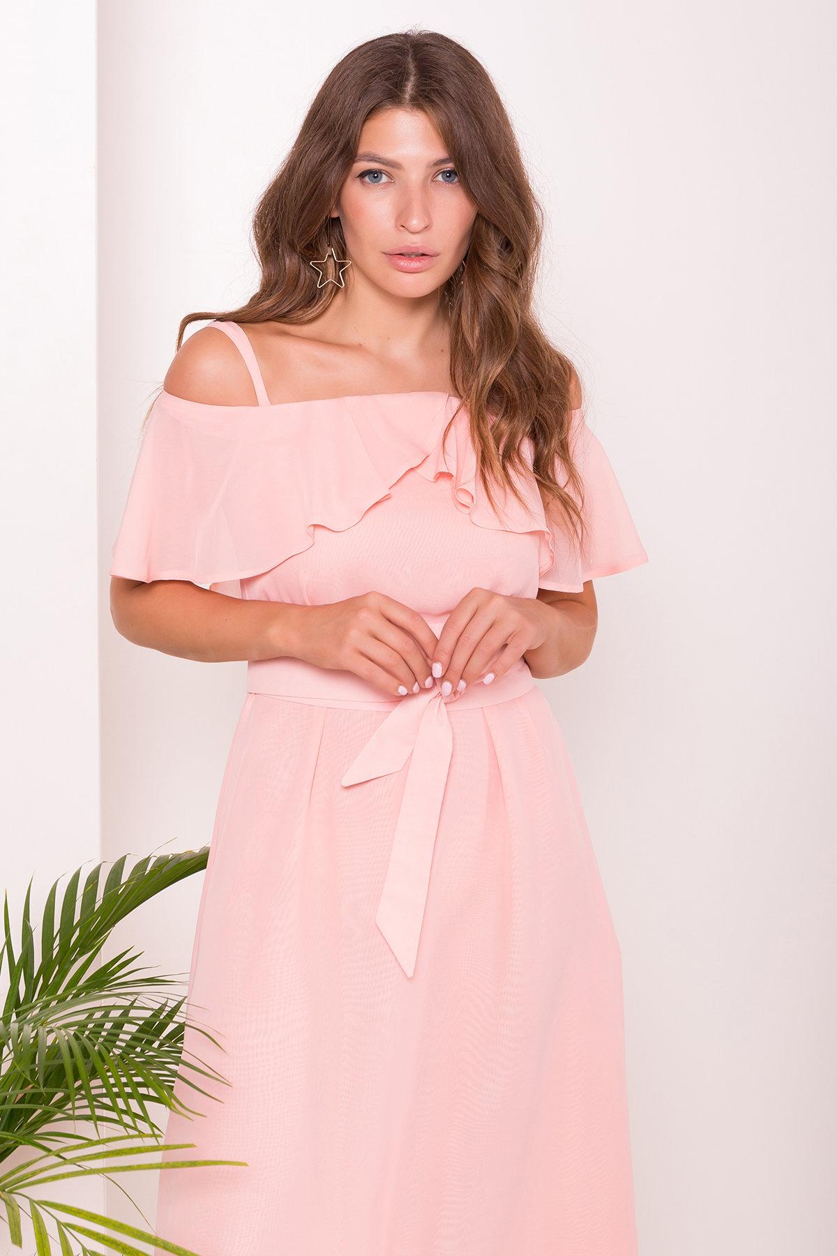 Платье Пикабу 7449 АРТ. 43246 Цвет: Персик - фото 4, интернет магазин tm-modus.ru