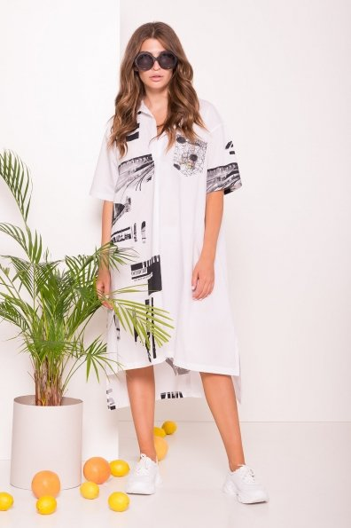 Купити Платье-рубашка 7489 оптом і в роздріб