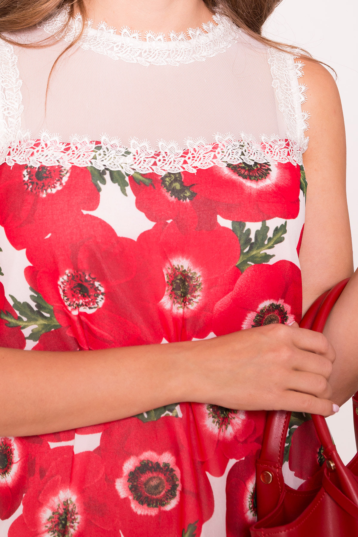 Платье Бриз 6933 АРТ. 43271 Цвет: Маки молоко - фото 4, интернет магазин tm-modus.ru