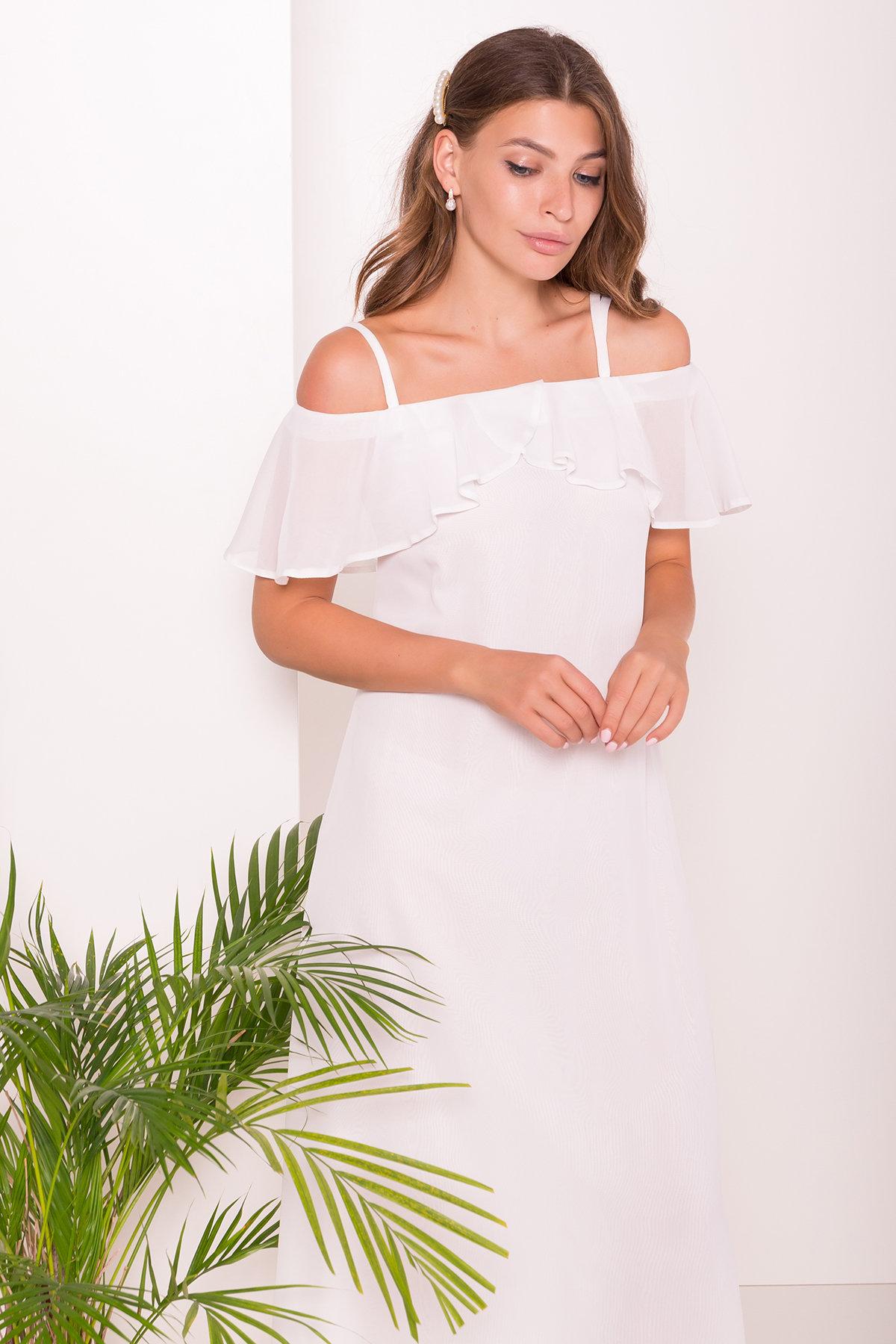 Платье Пикабу 7449 АРТ. 43244 Цвет: Молоко - фото 4, интернет магазин tm-modus.ru